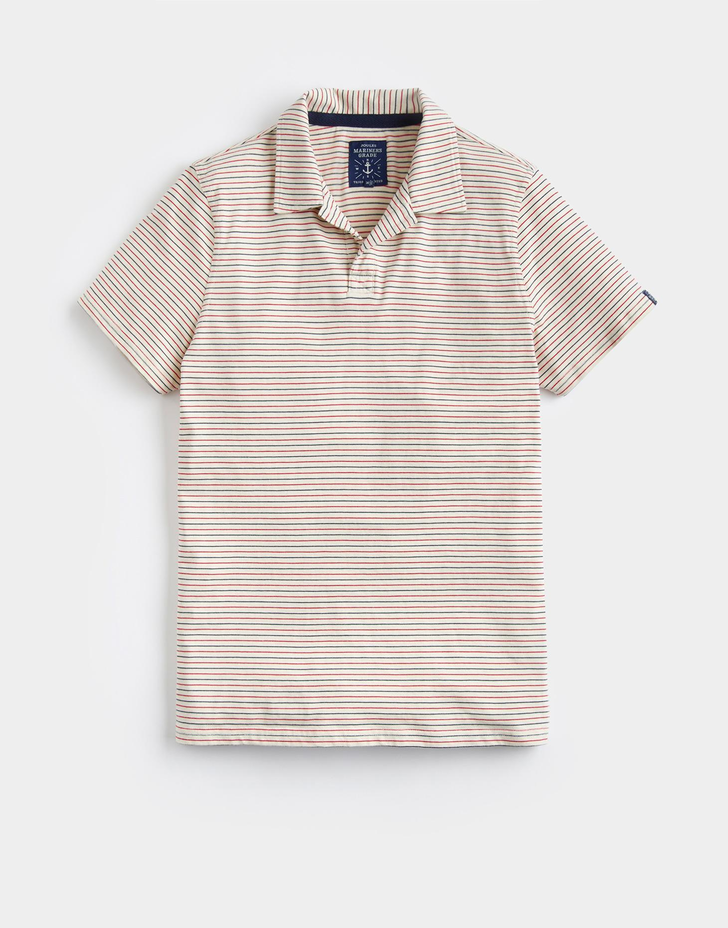Joules Red Stripe HOVE Jersey Polo Shirt