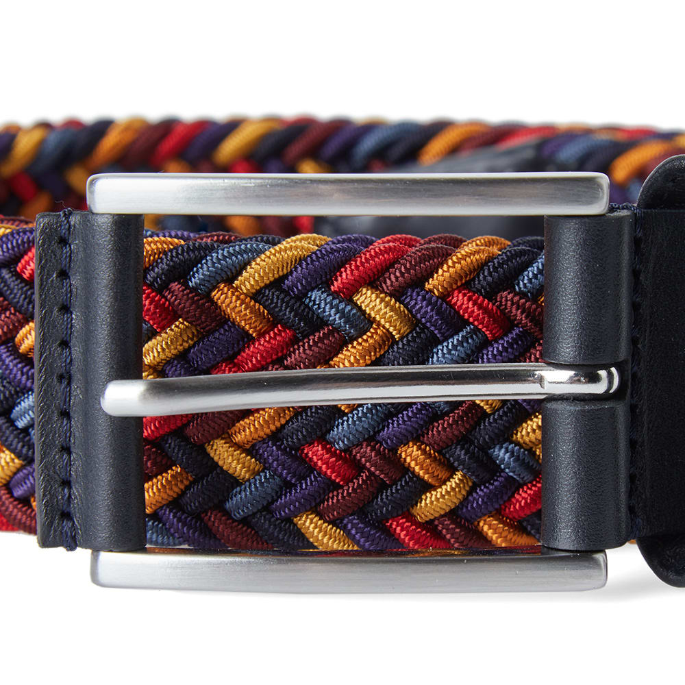 Anderson's Navy, Red & Gold Woven Textile Belt