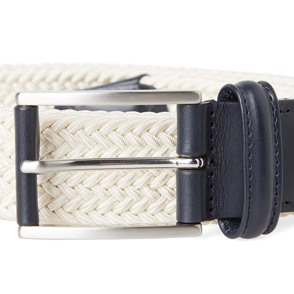 Anderson's Off White Woven Textile Belt