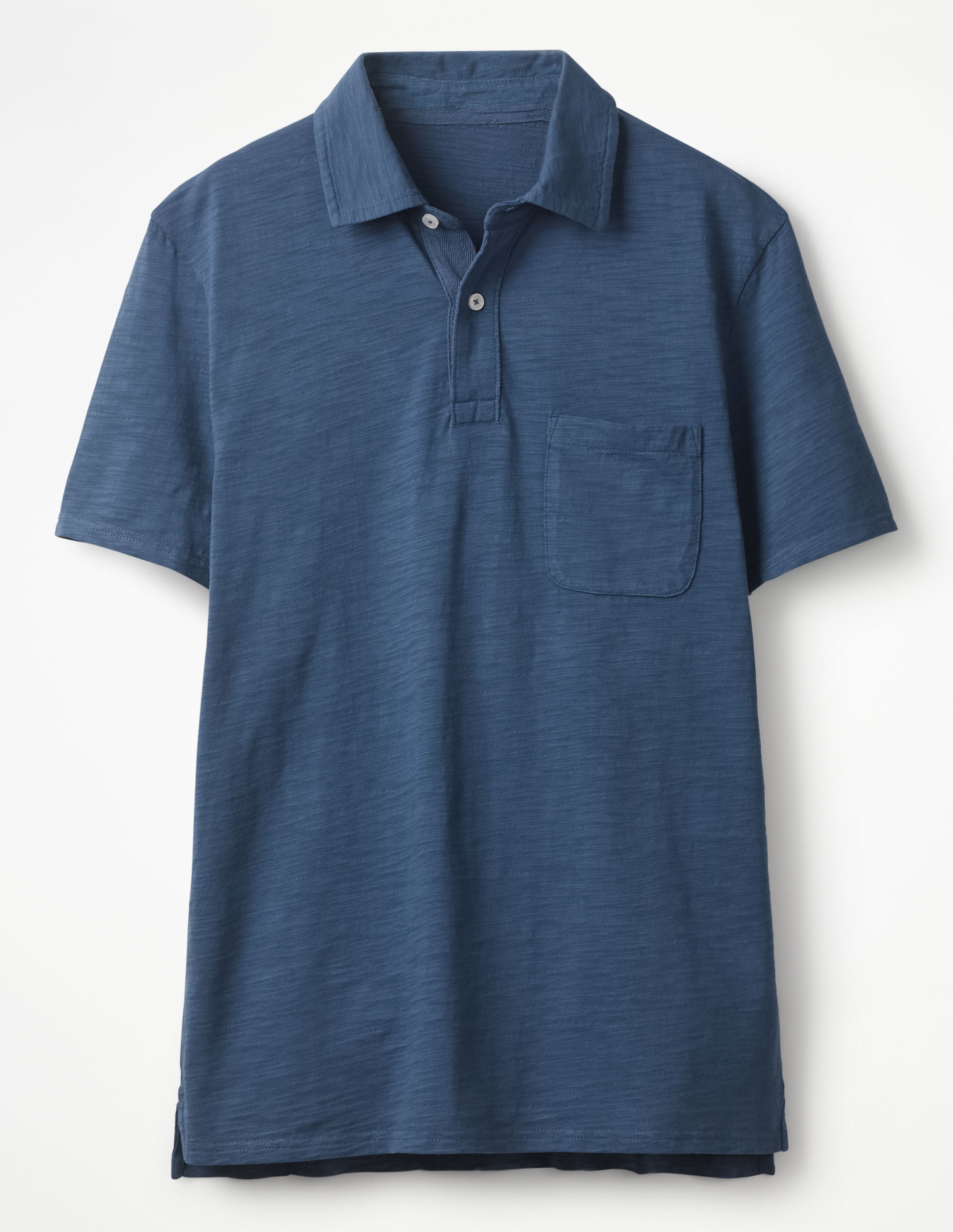 Boden Sandown Blue Slub Polo