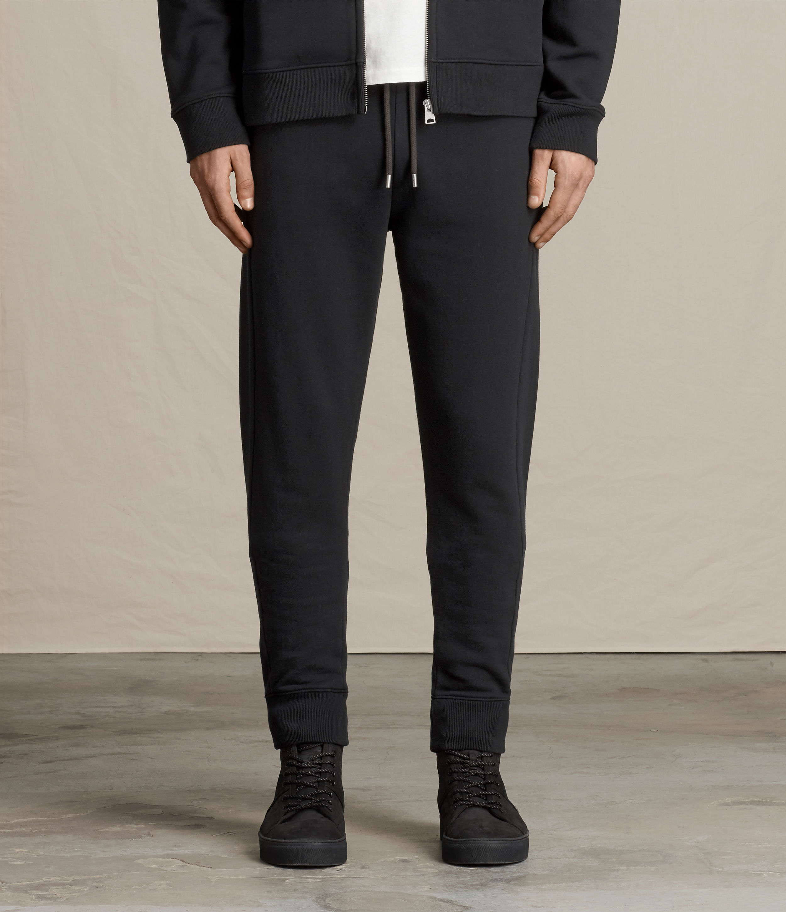 AllSaints Jet Black Medala Sweatpants