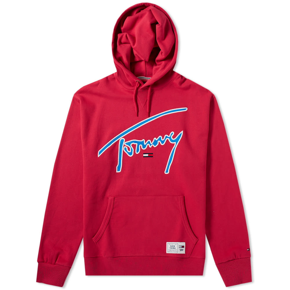 Tommy Jeans Cerise Signature Hoody