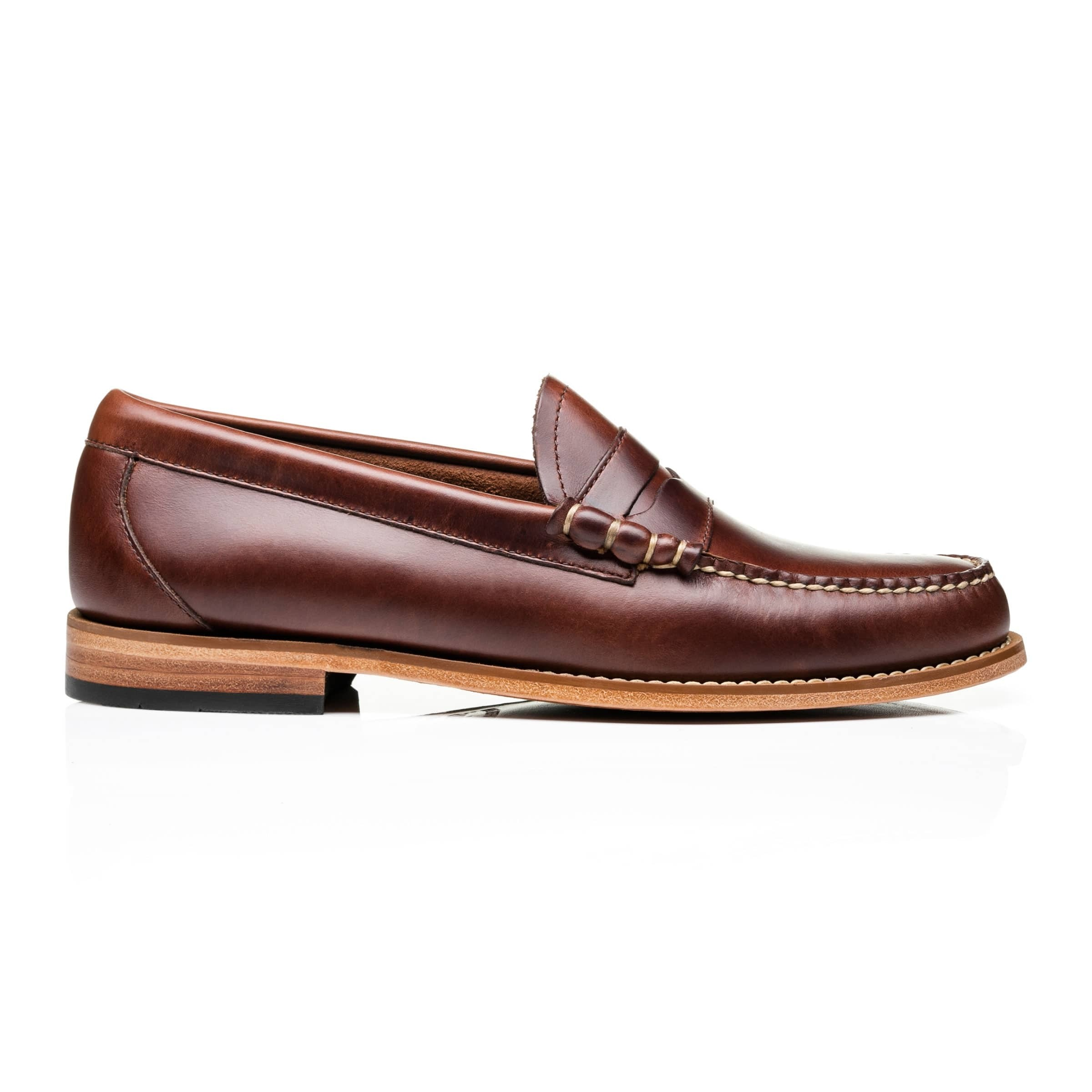 G.H. Bass & Co. Weejuns Larson Pull Up Dark Brown Leather