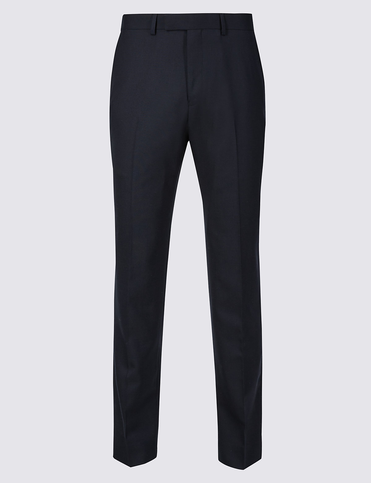 Marks & Spencer Navy Tailored Fit Wool Trousers