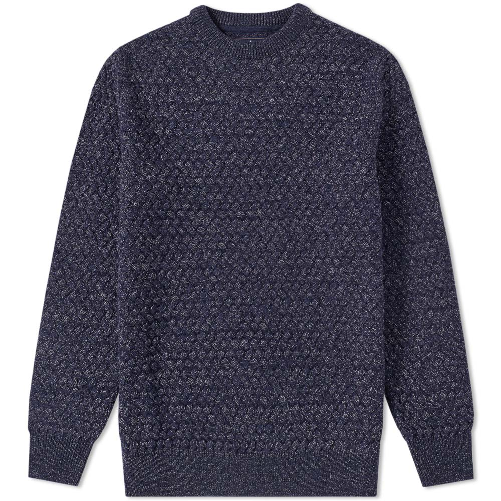 Barbour Light Navy Rhine Crew Knit