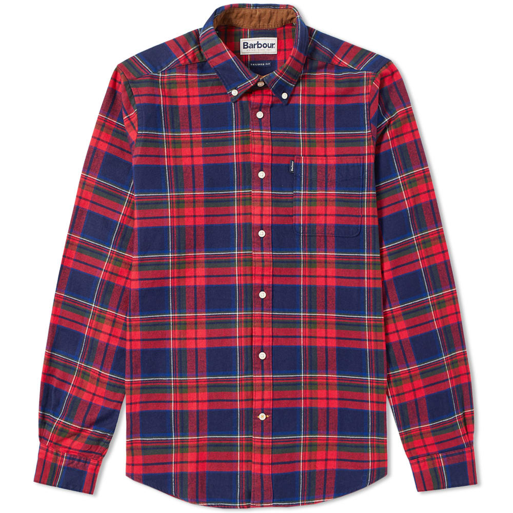 Barbour Rich Red Endsleigh Highland Check Shirt