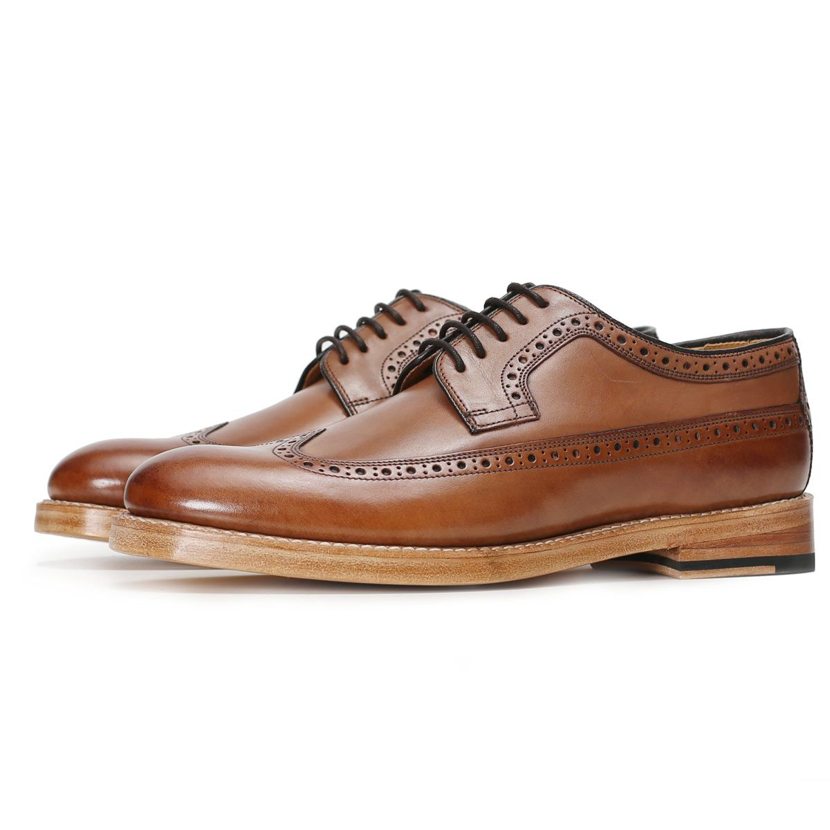 Oliver Sweeney Pembroke Dark Tan - Calf Leather Derby Brogue