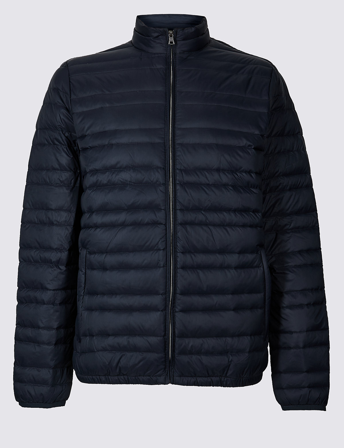 Marks & Spencer Navy Down & Feather Jacket with Stormwear™