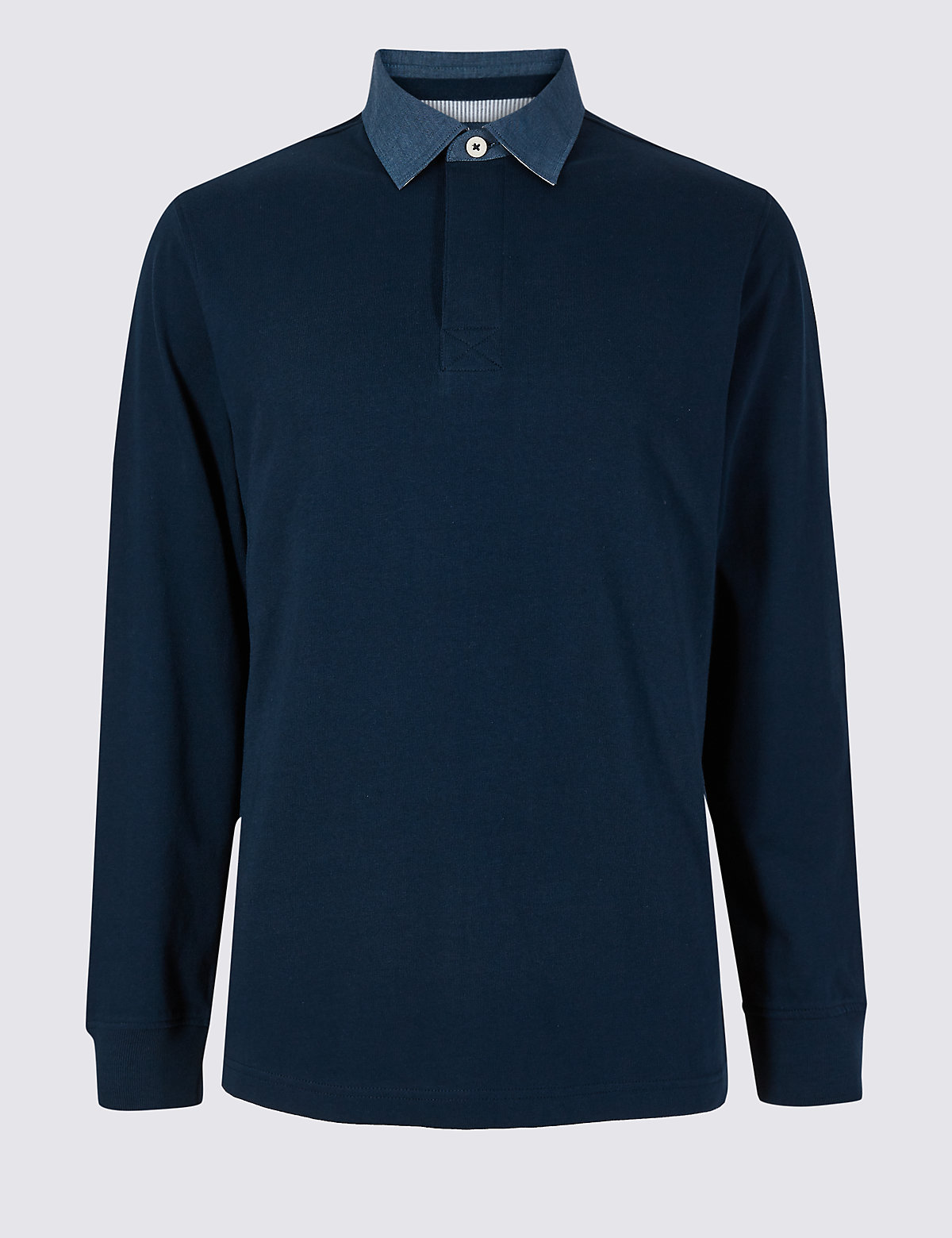 Marks & Spencer Navy Pure Cotton Rugby Top