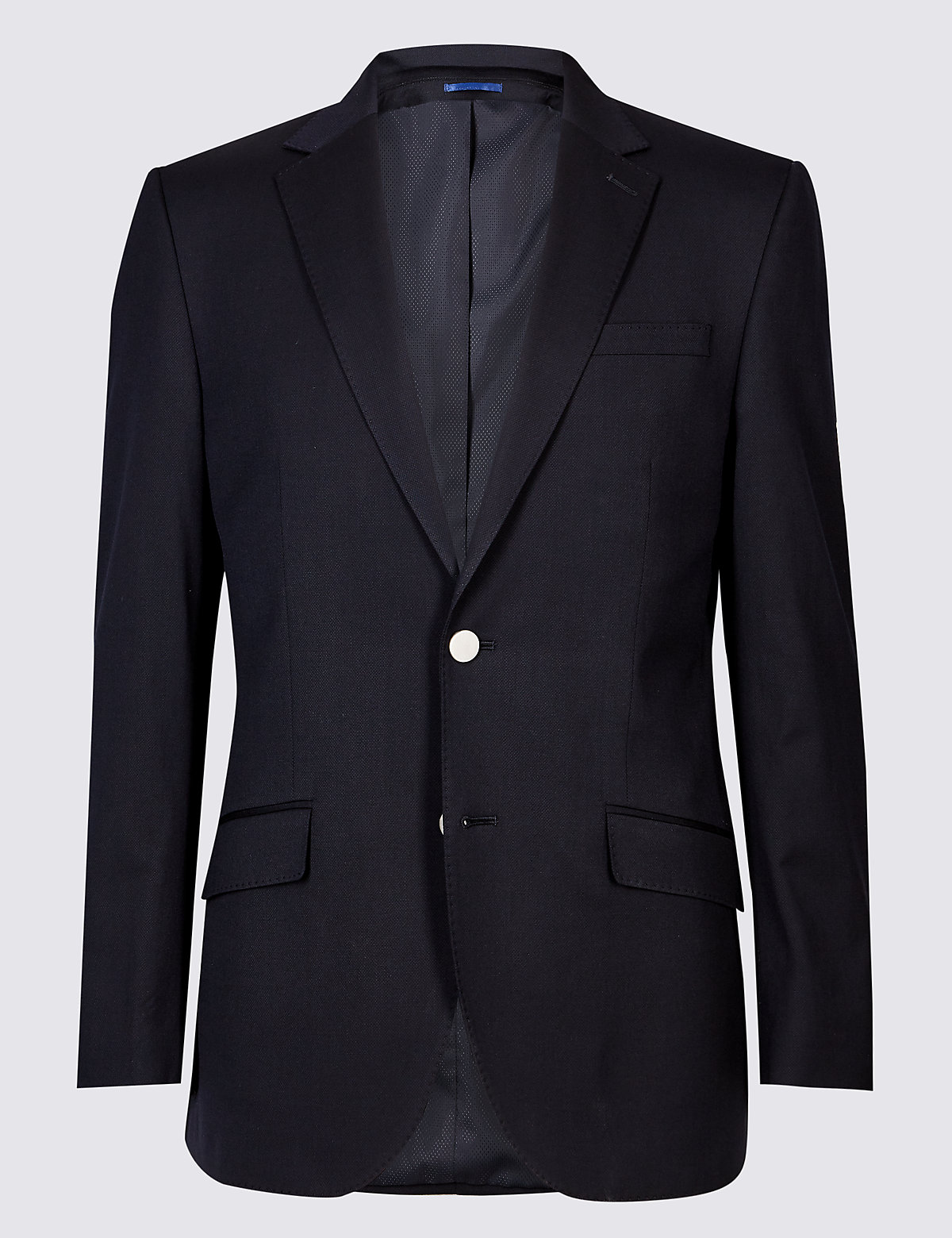 Marks & Spencer Navy Big & Tall Textured Regular Fit Jacket