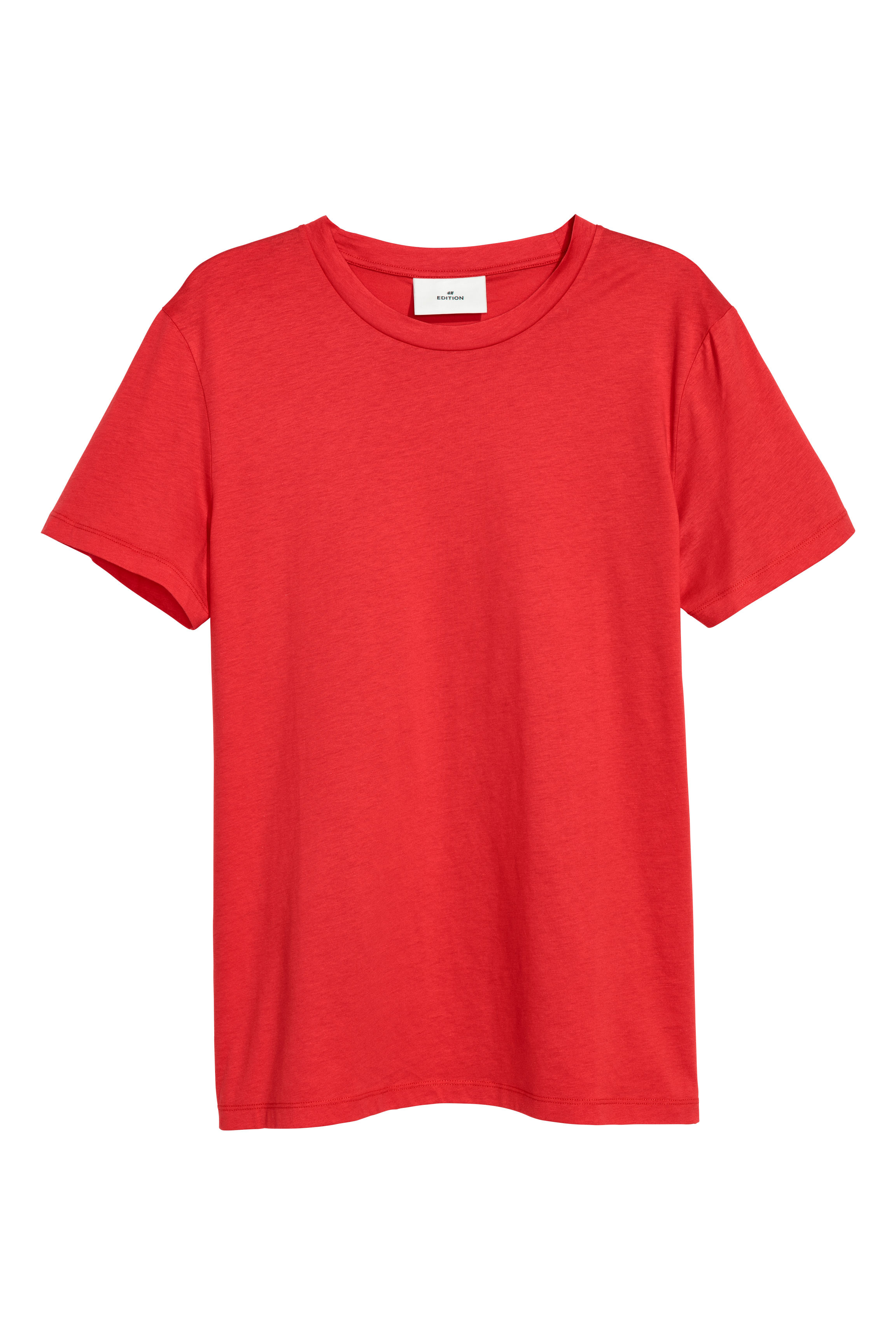 H&M Edition Bright red Cotton and silk T-shirt