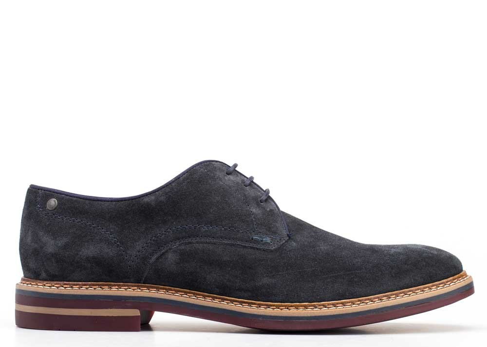 Base London Blue Blake Suede