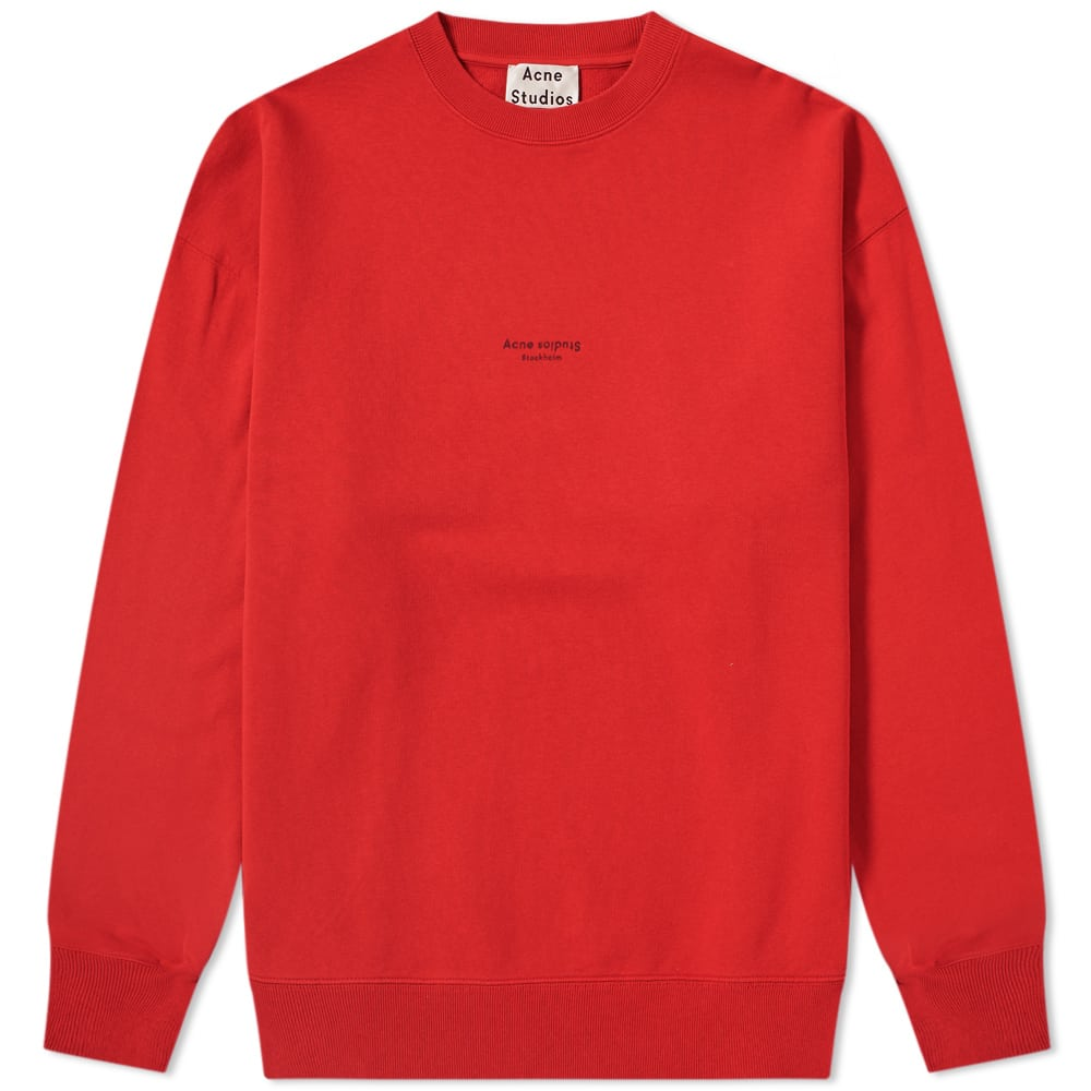 Acne Tomato Red Garment Dyed Crew Sweat