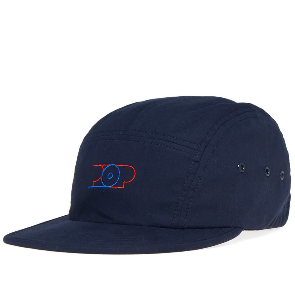 Pop Trading Company Navy Lines 5 Panel Cap