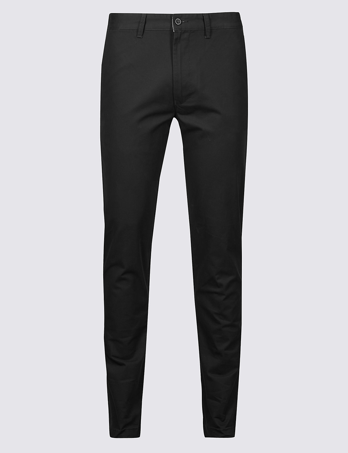 Marks & Spencer Black Skinny Fit Pure Cotton Chinos