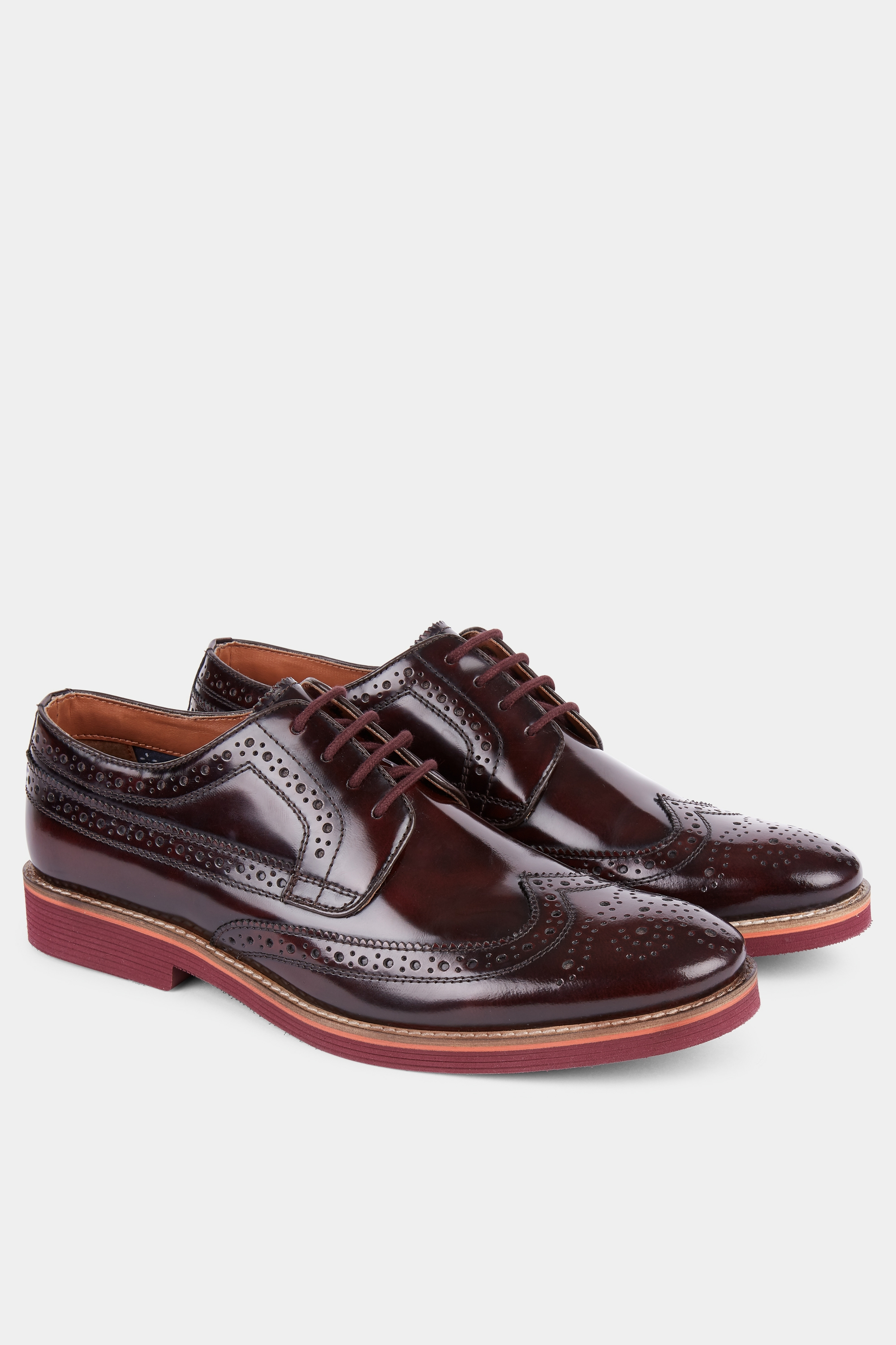 Moss Bros Moss London Foxley Burgundy Eva Sole Derby