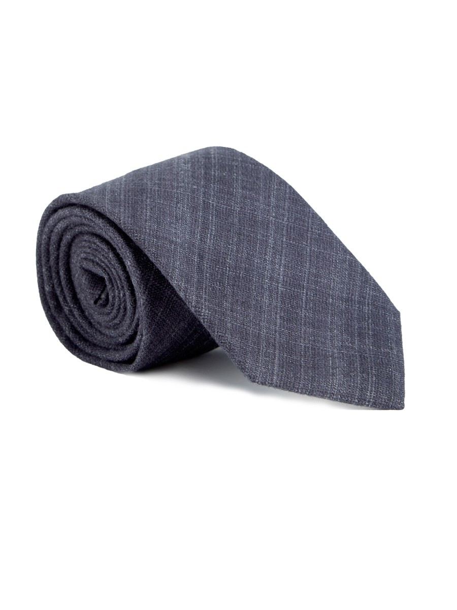 Oliver Spencer Tie Clarence Charcoal