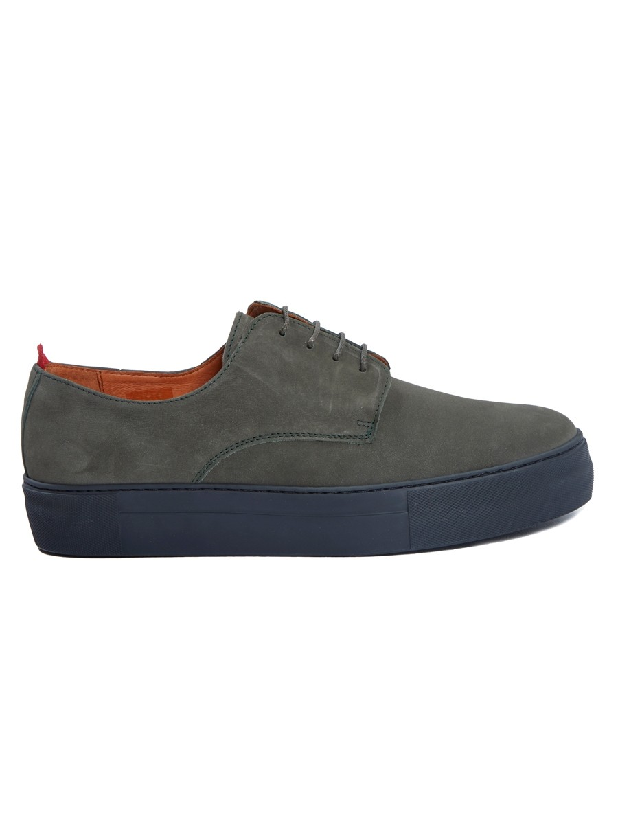 Oliver Spencer Coventry Shoe Nubuck Green