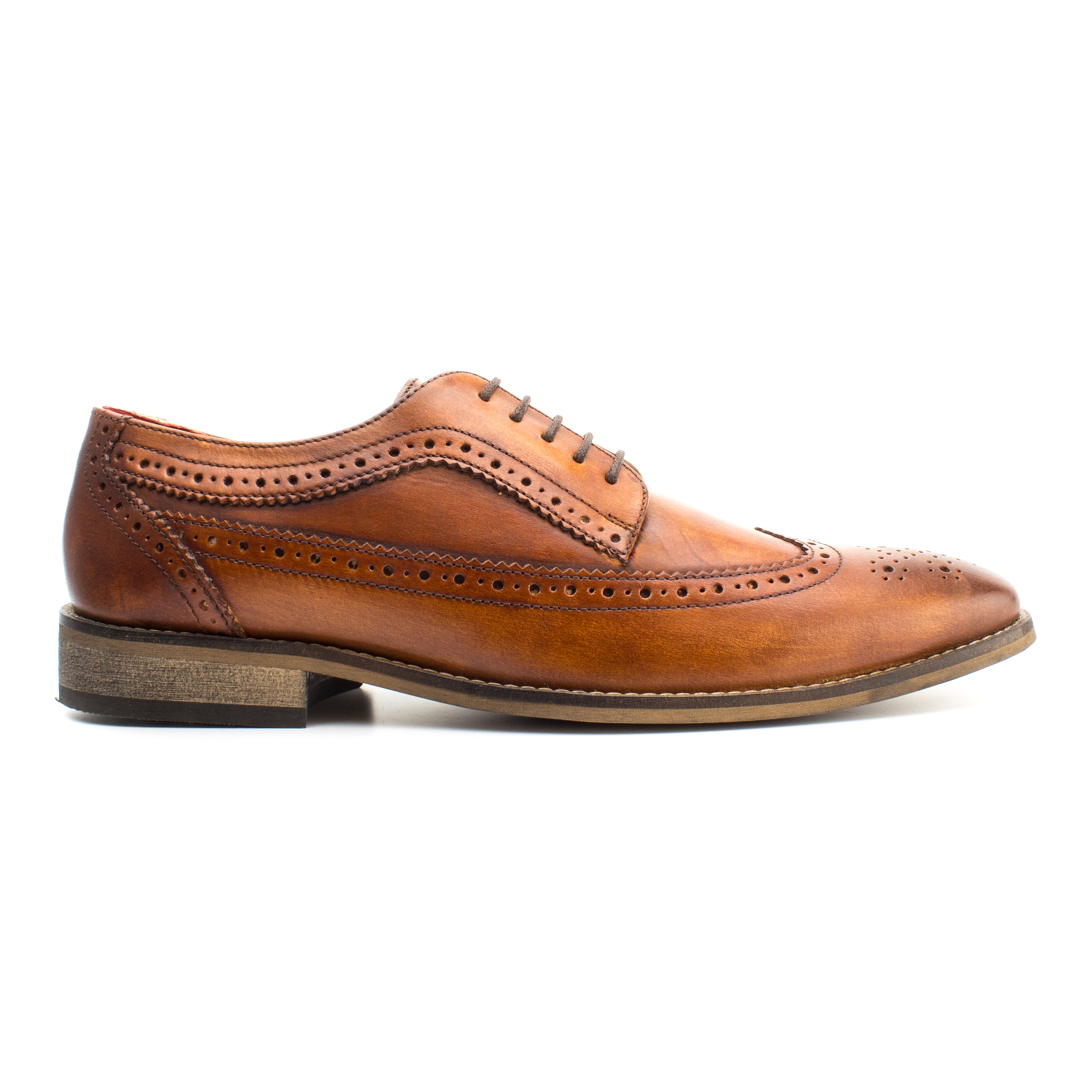 Base London TAN Durham Washed Leather Brogues