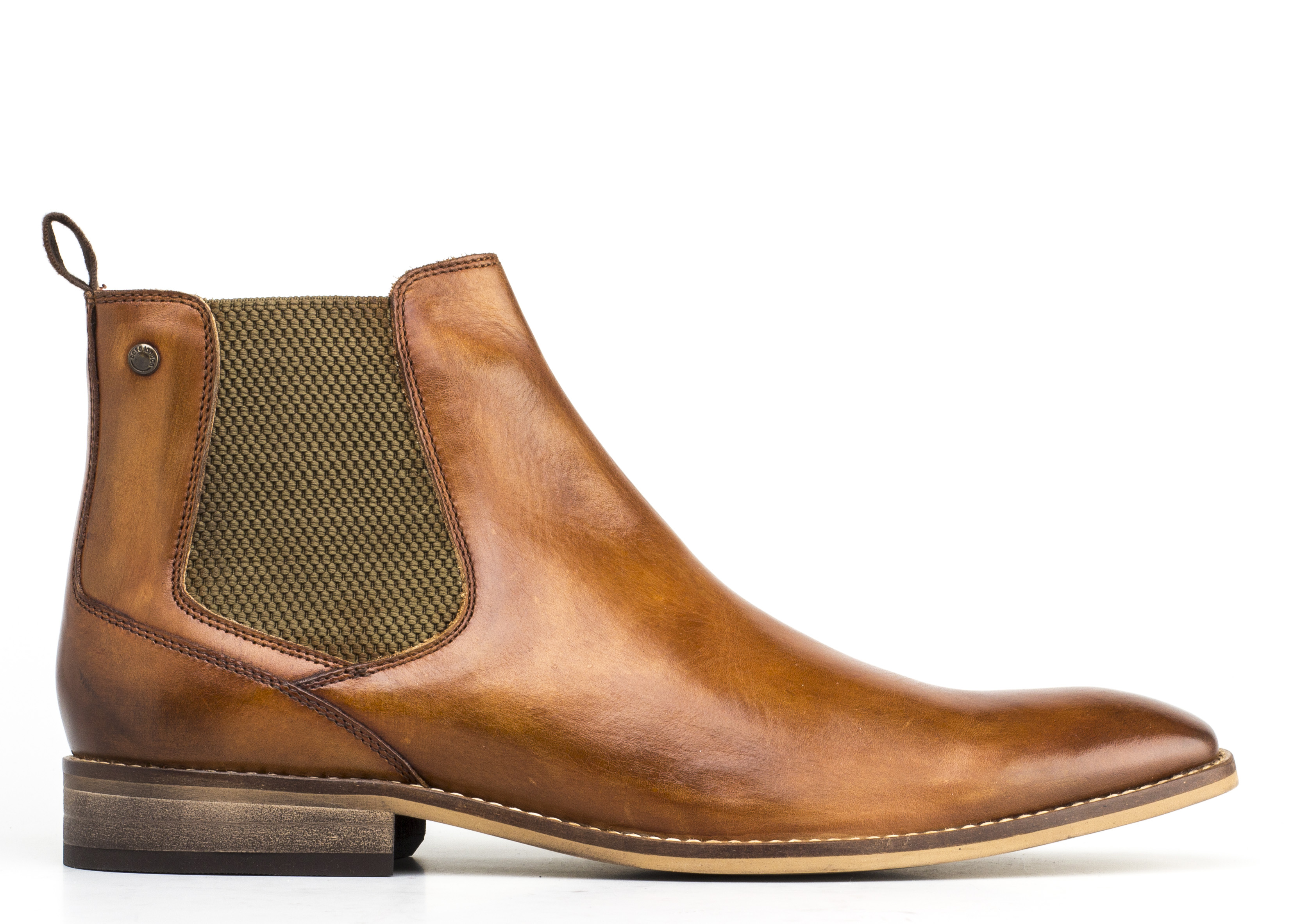 Base London TAN Cheshire Chelsea Boots
