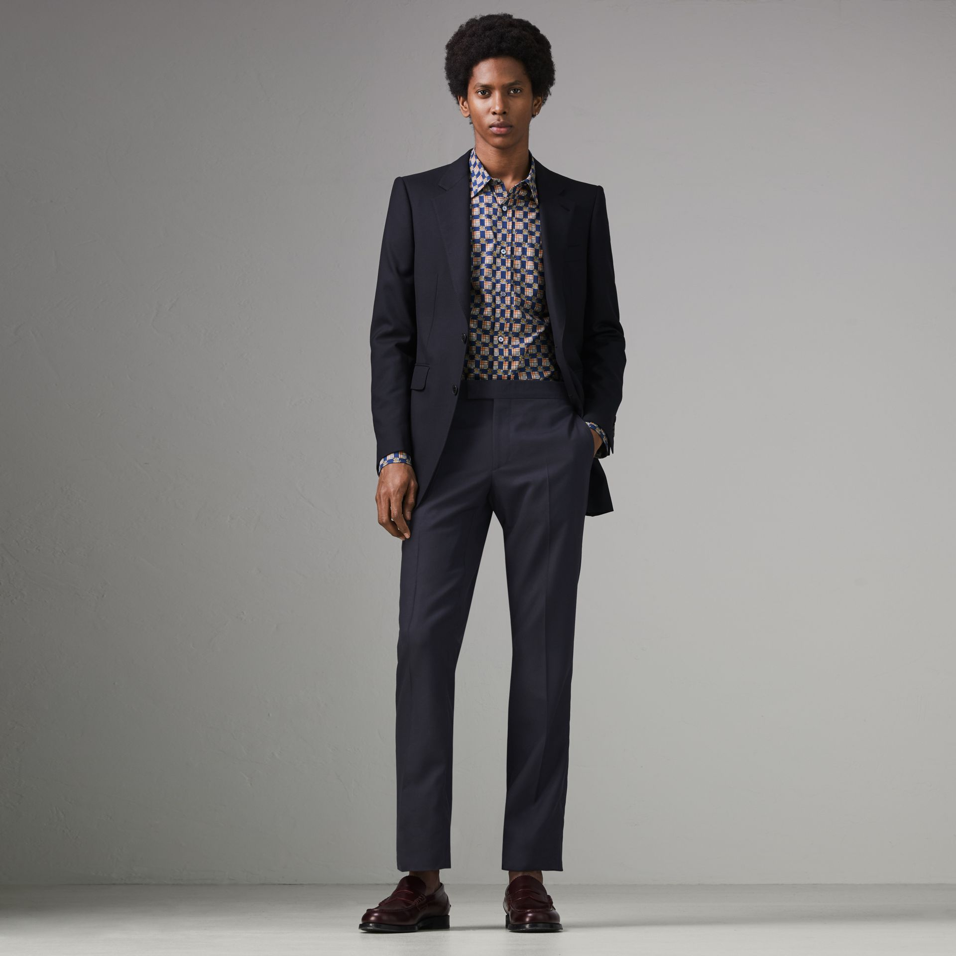 Burberry Navy Slim Fit Wool Twill Suit