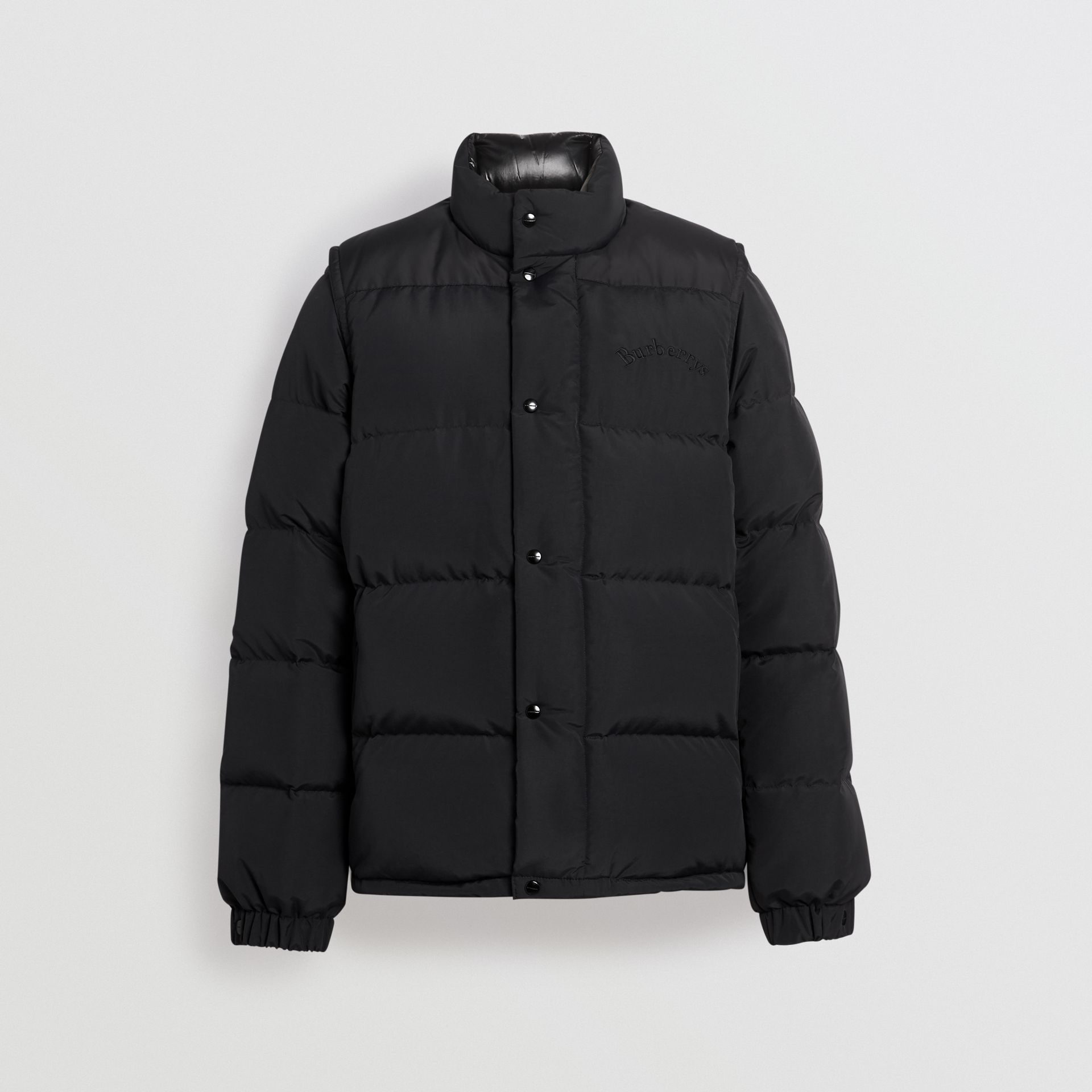 Burberry Black Detachable-sleeve Down-filled Puffer Jacket