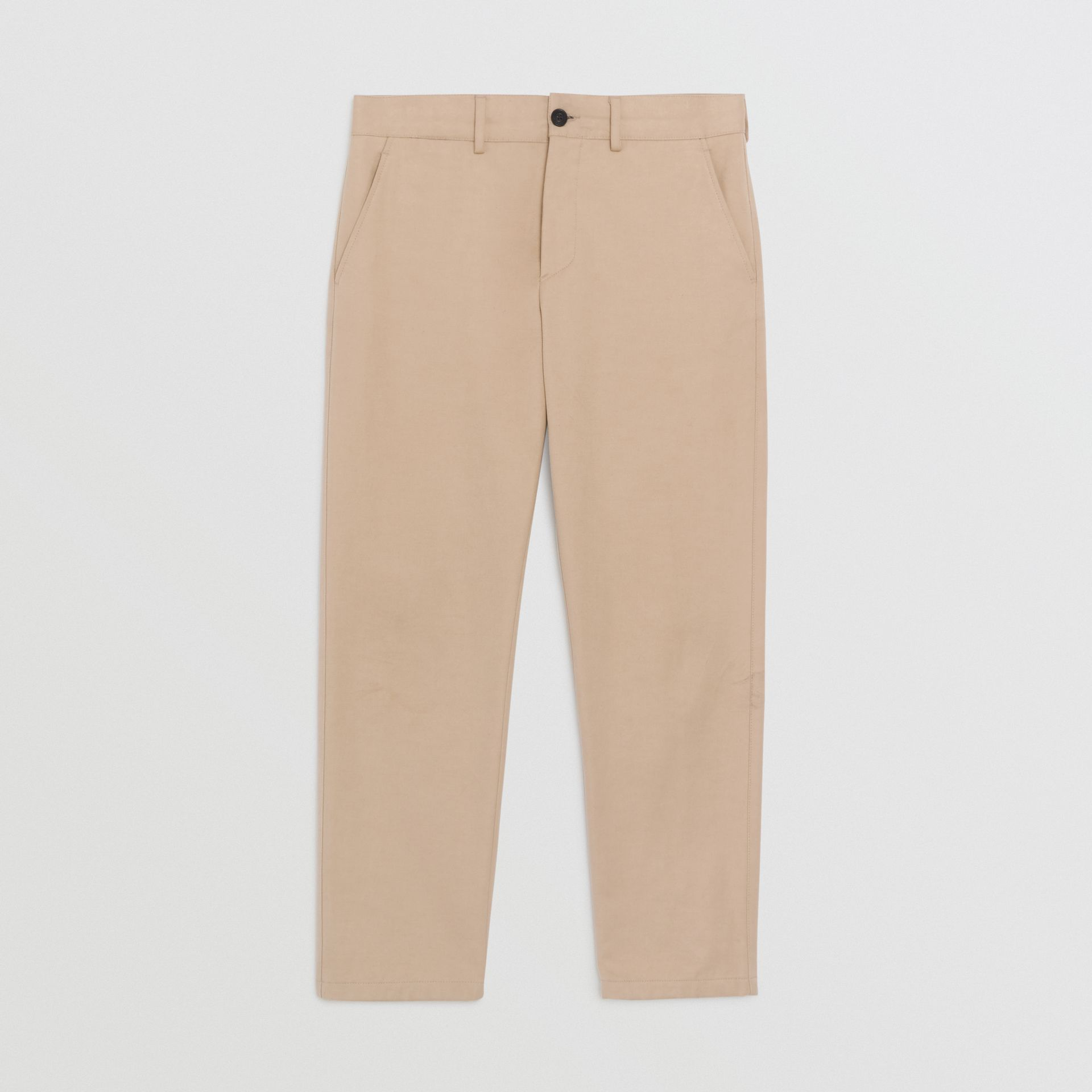 Burberry Stone Slim Fit Cotton Blend Chinos
