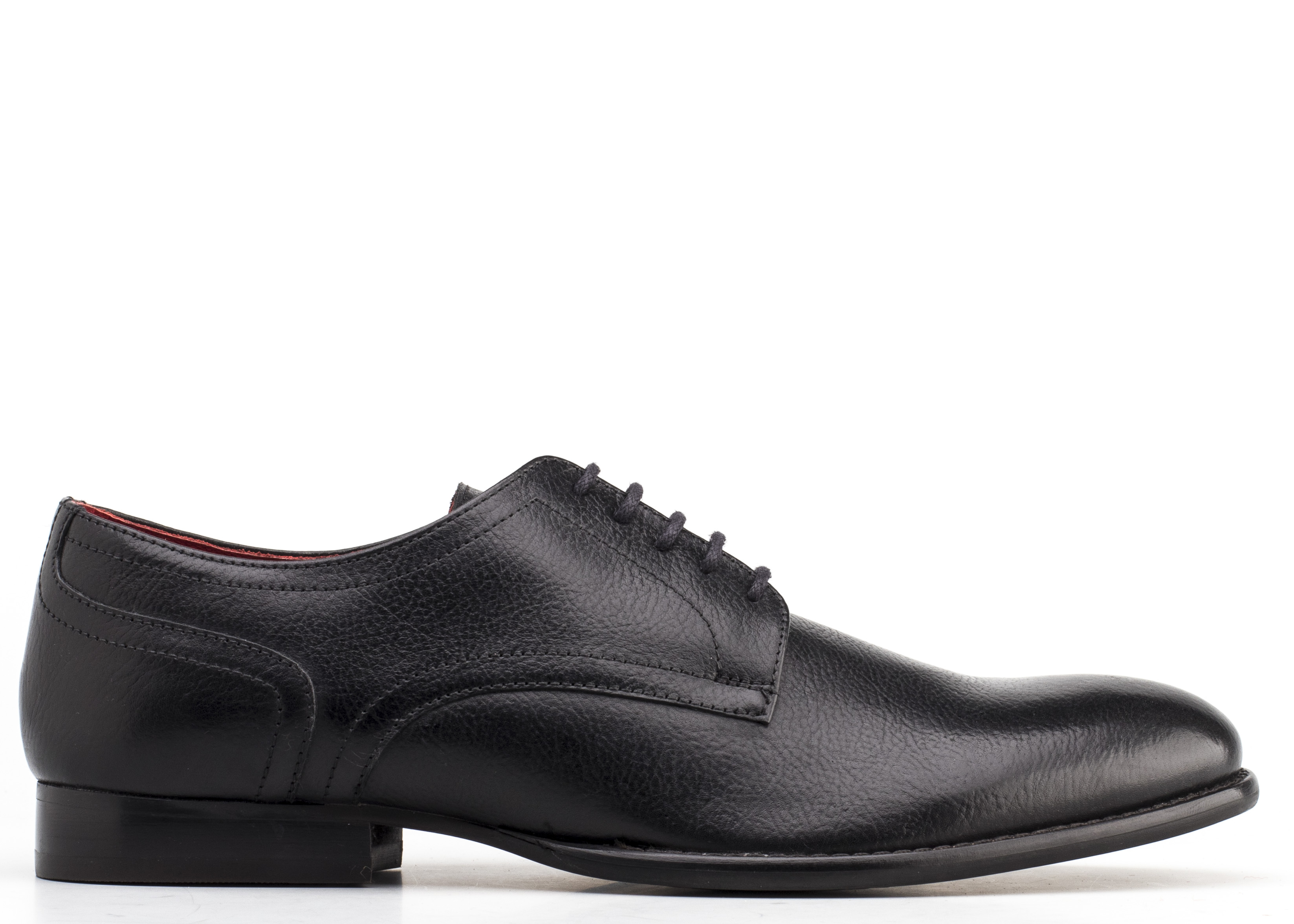 Base London BLACK Ford Grain Leather Shoes