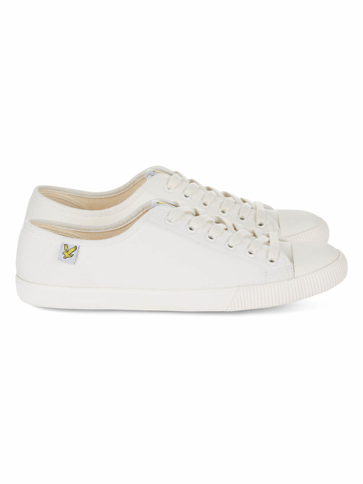 Lyle and Scott OFF WHITE Tima Canvas Trainers