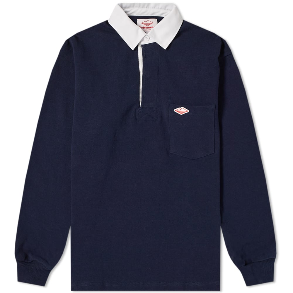 Battenwear Navy Pocket Rugby Shirt