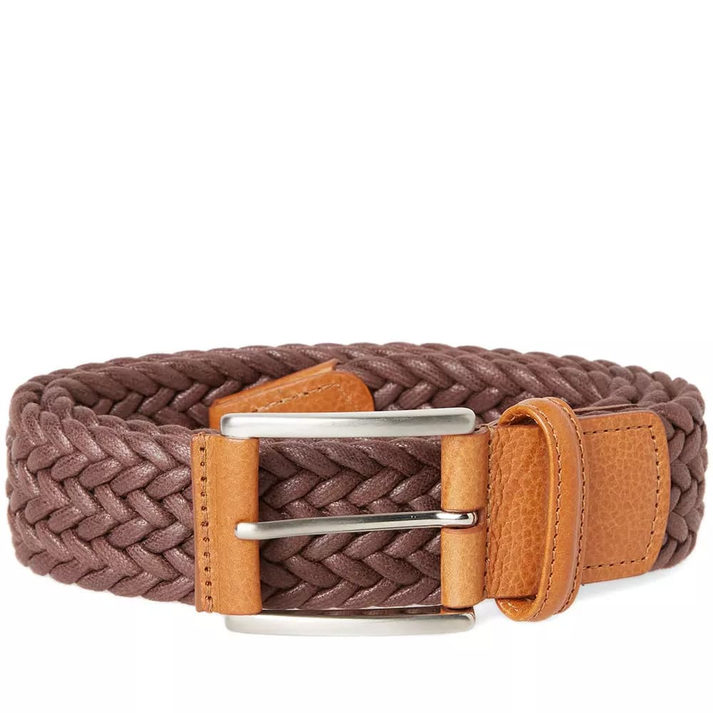 Anderson's Chocolate Waxed Canvas Woven Belt
