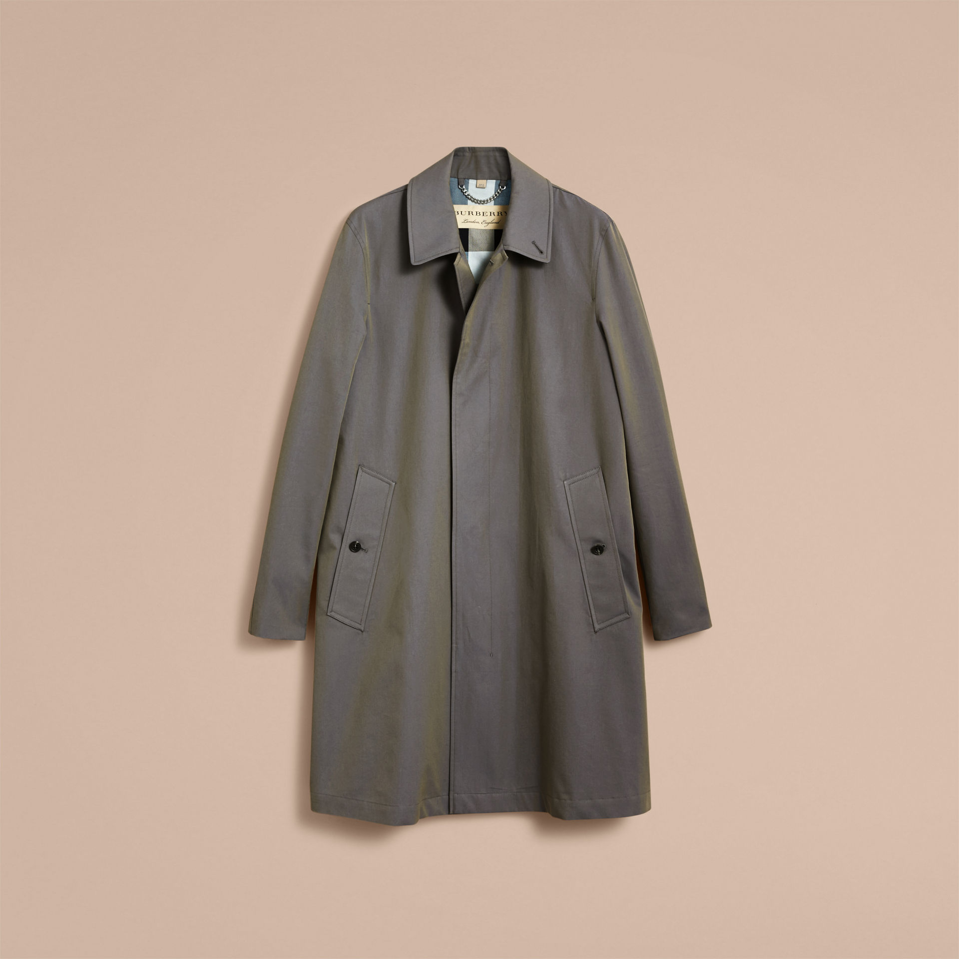 Burberry Storm Blue Tropical Gabardine Car Coat