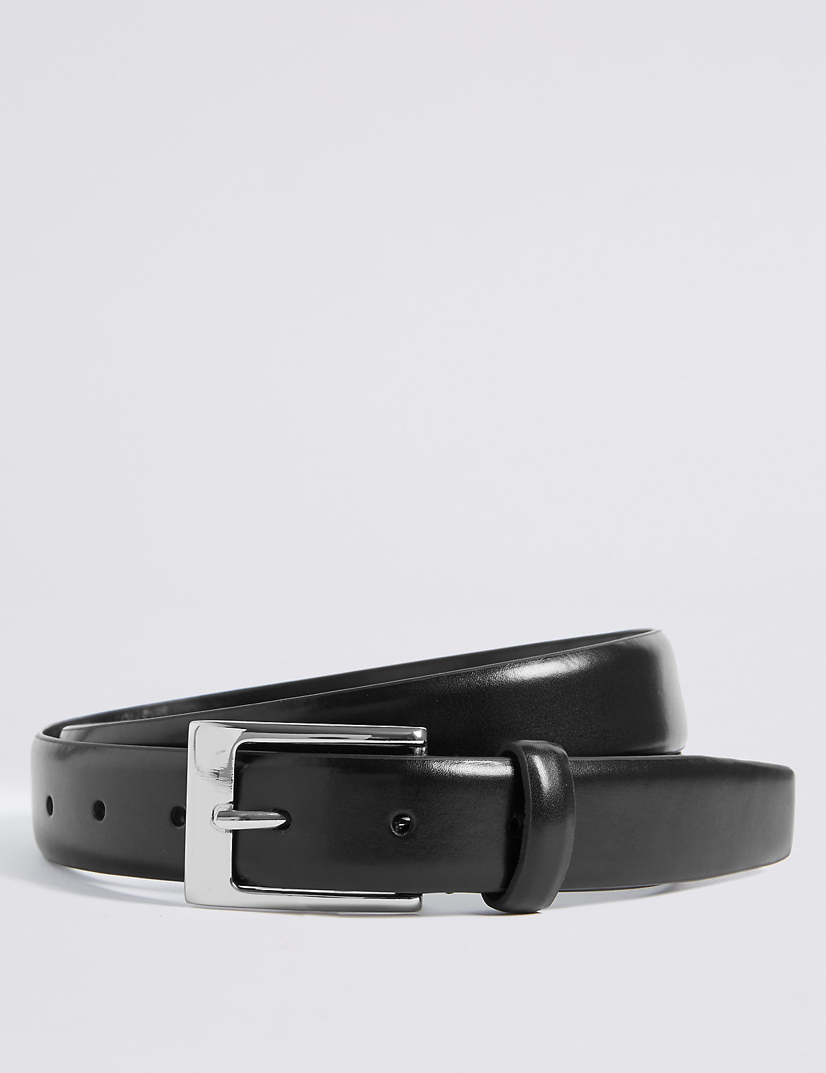 Marks & Spencer Black Rectangular Buckle Smart Belt