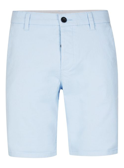 Topman Blue Light blue stretch skinny chino shorts