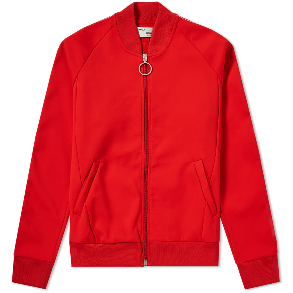 OFF-WHITE Red Tape Track Jacket