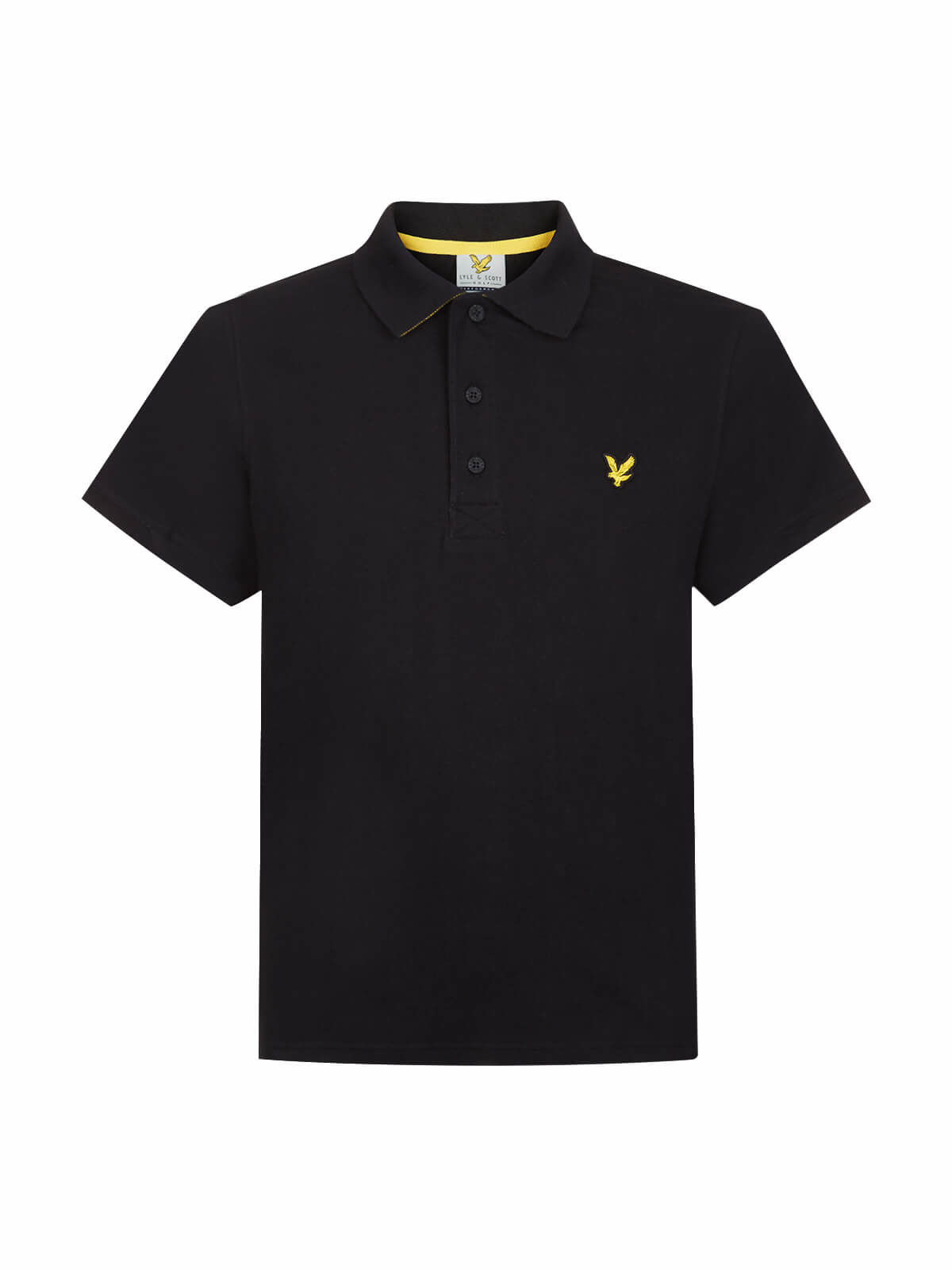 Lyle and Scott True Black Kelso Tech Pique Polo Shirt