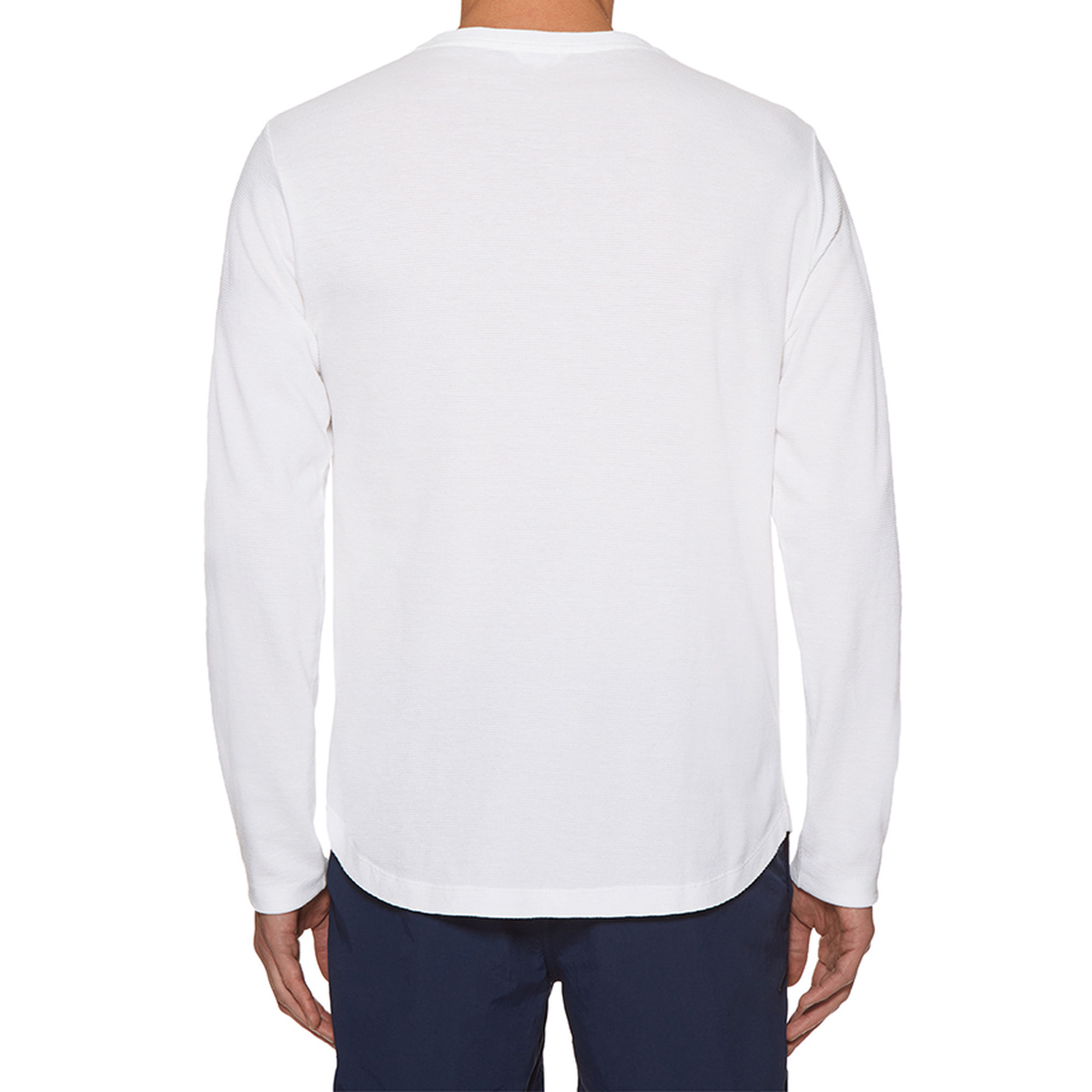Orlebar Brown OB-T WAFFLE COTTON White Tailored-Fit Crew-Neck T-Shirt