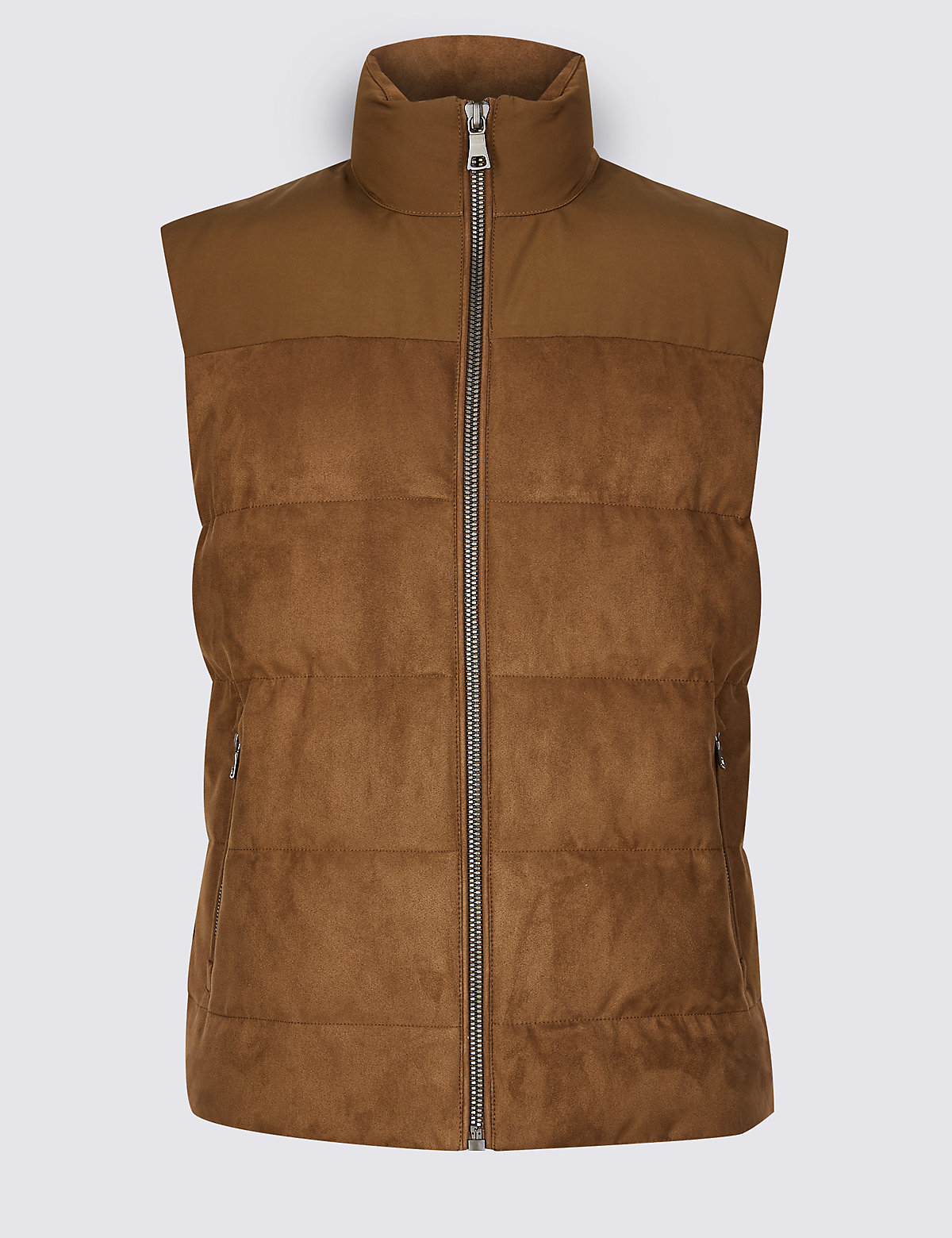 Marks & Spencer Tobacco Quilted Gilet with Stormwear™