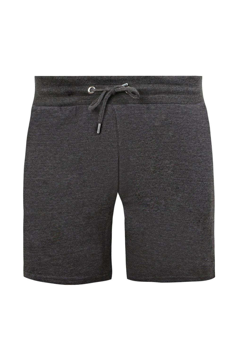 boohooMAN charcoal MAN Signature Embroidered Jersey Short