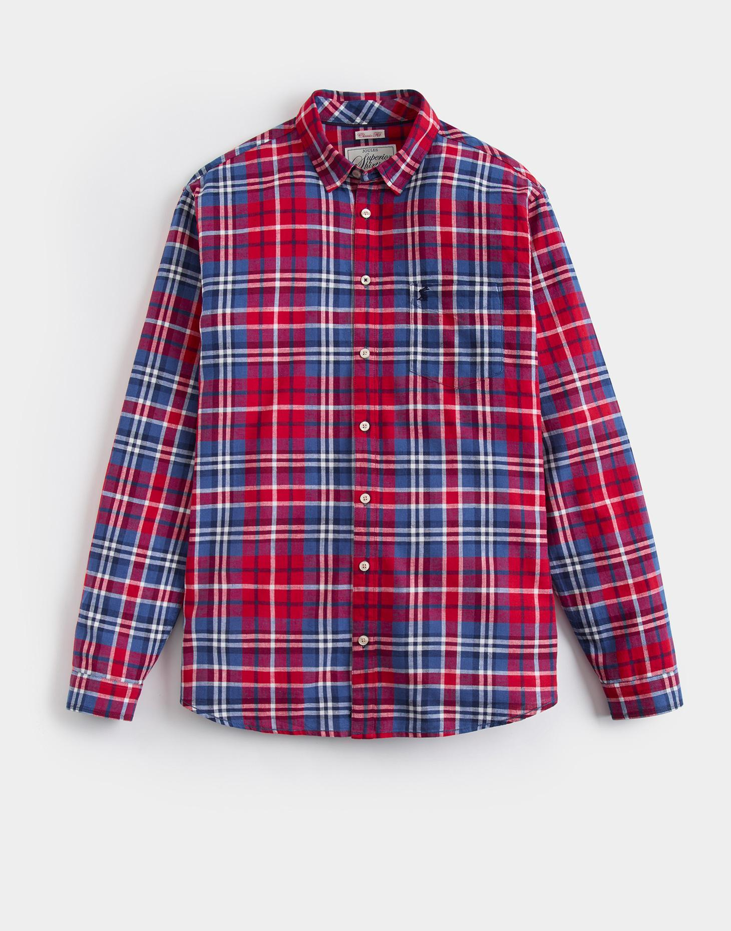 Joules Red Check LINEN Classic Fit Shirt