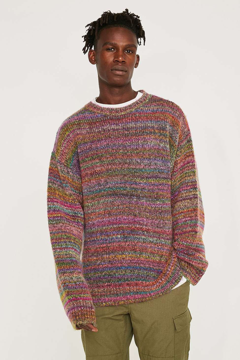 Urban Outfitters Assorted UO Slouchy Rainbow Jumper