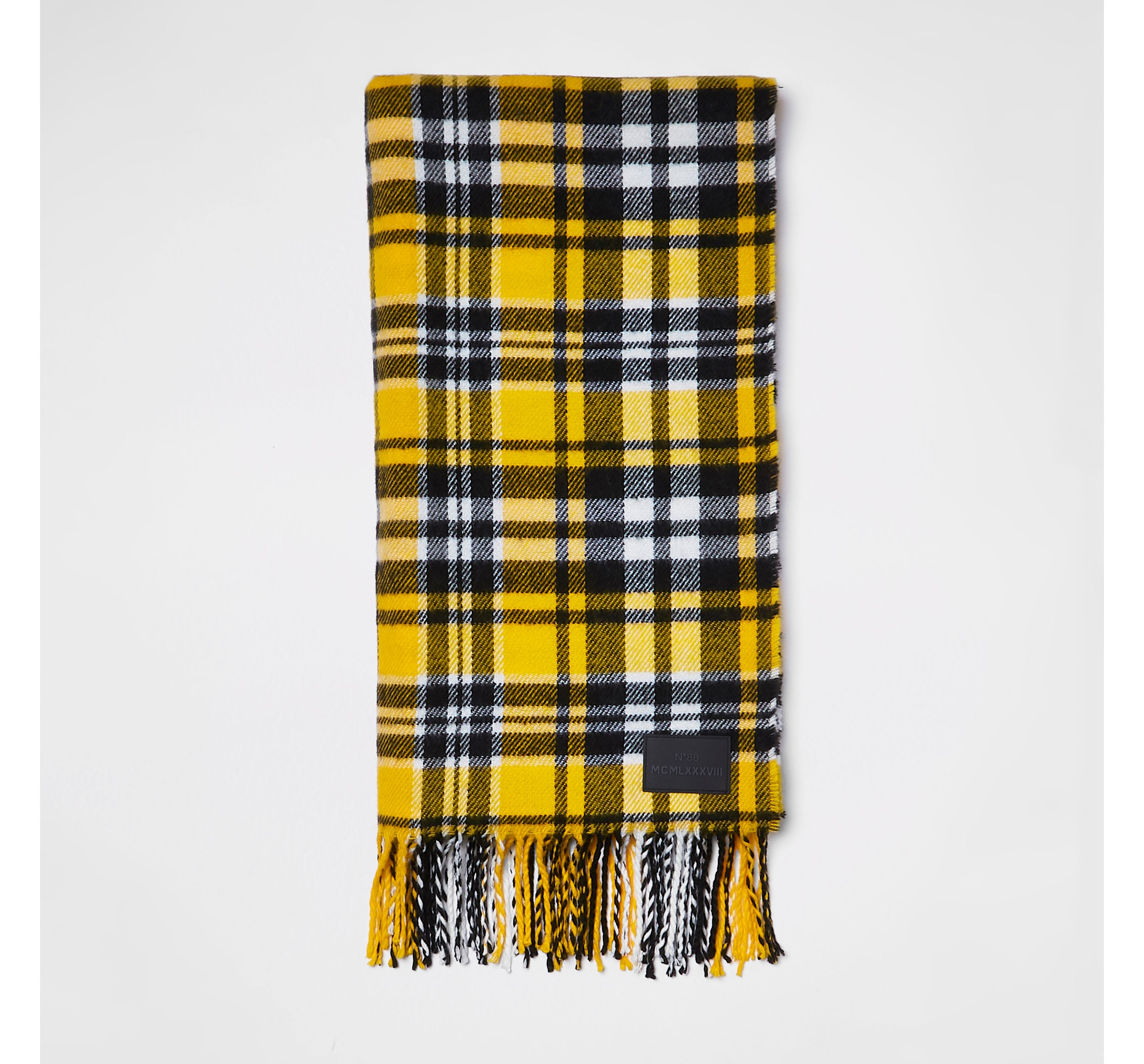 93eac1118879b Mens Yellow check print scarf by River Is... — Thread