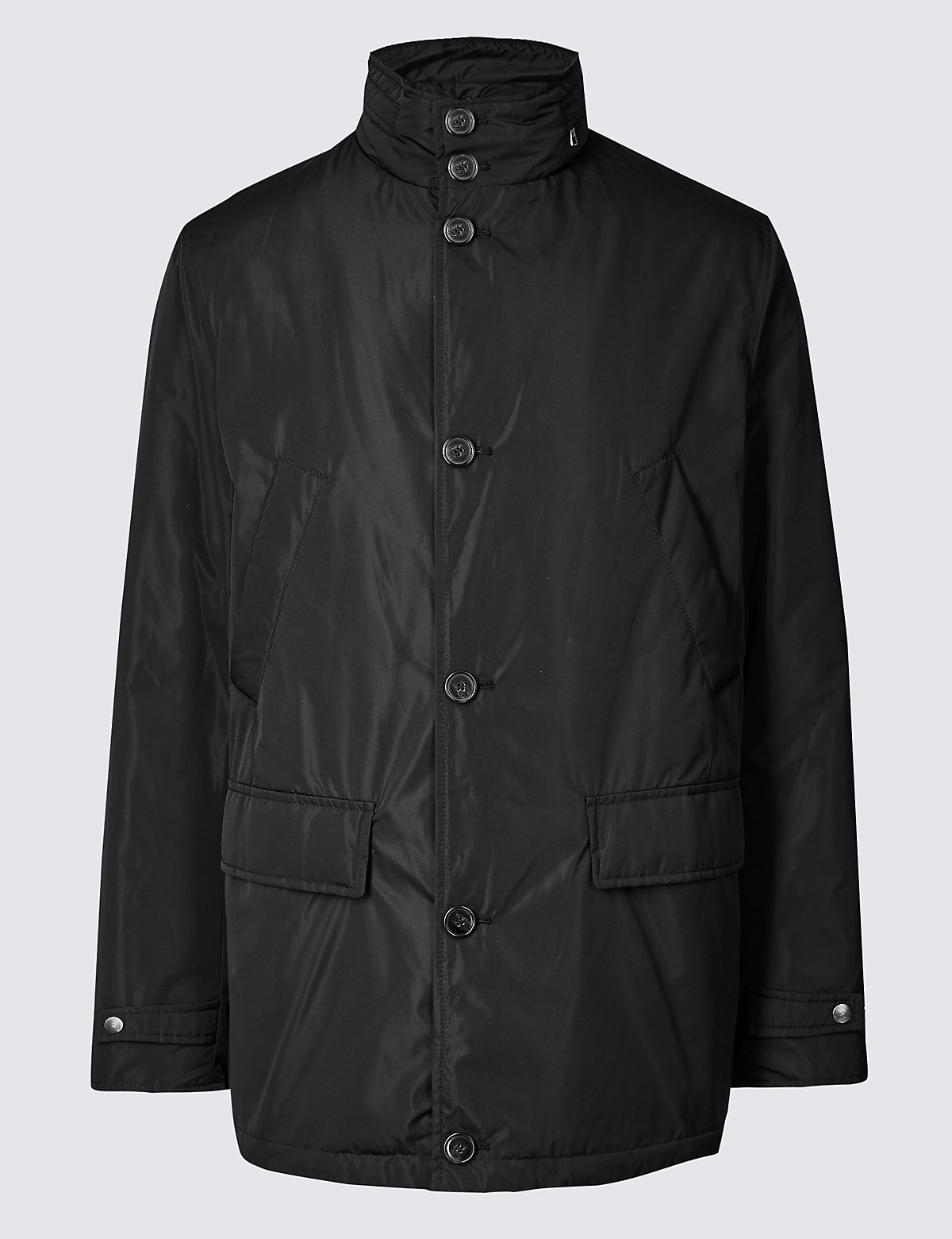 Marks & Spencer Black Detachable Collar Mac with Stormwear™