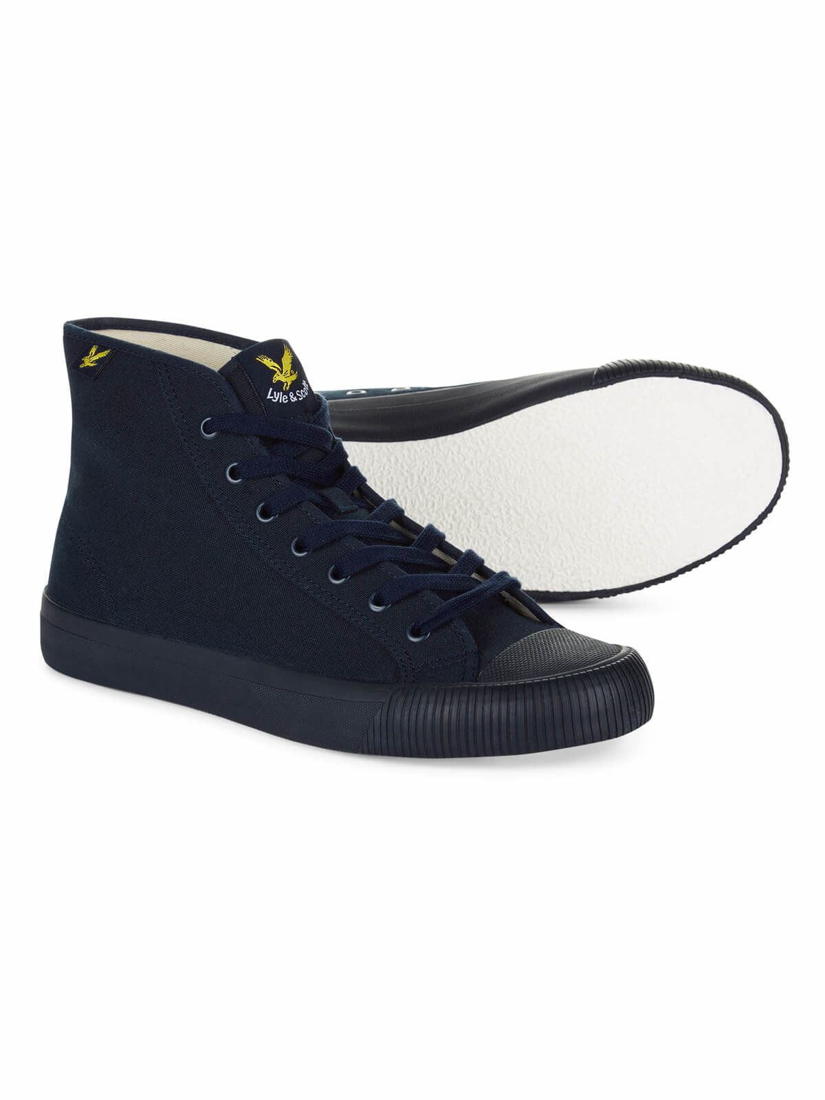 Lyle and Scott New Navy Luggie Canvas Trainers