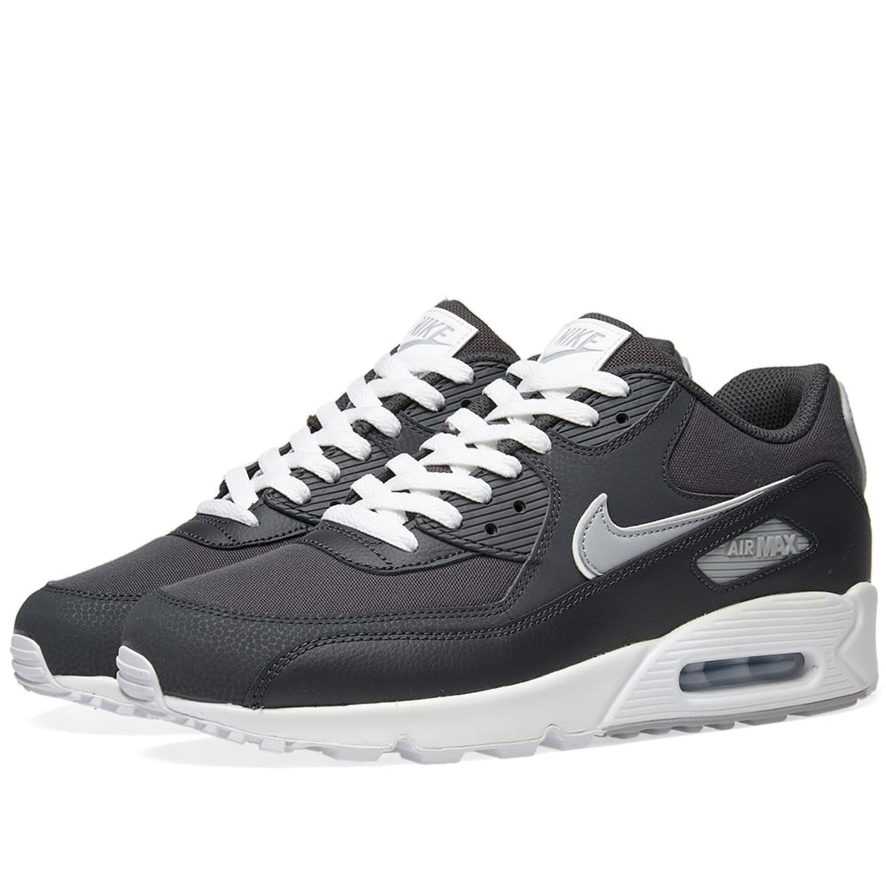 Nike Anthracite, Wolf Grey & White Air Max 90 Essential