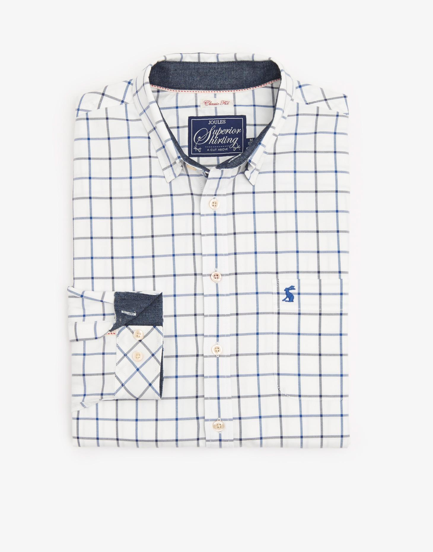 Joules Blue Over Check WILBY Classic Fit Shirt