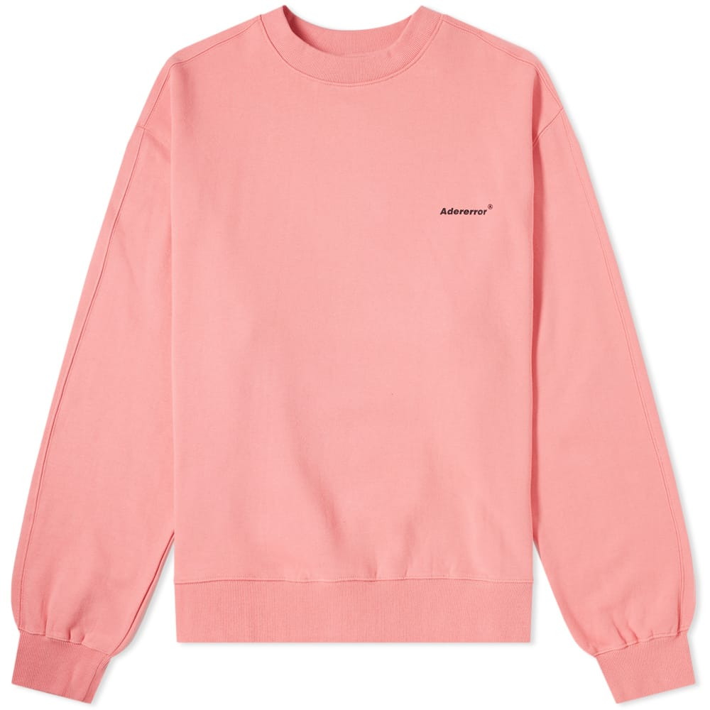 ADER Error Pink Basic Logo Crew Sweat