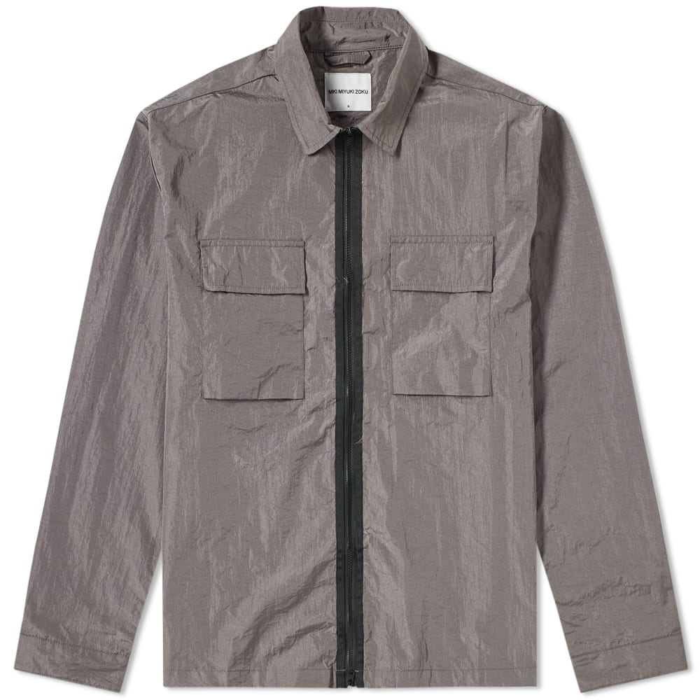 MKI Charcoal Nylon Zip Shirt Jacket