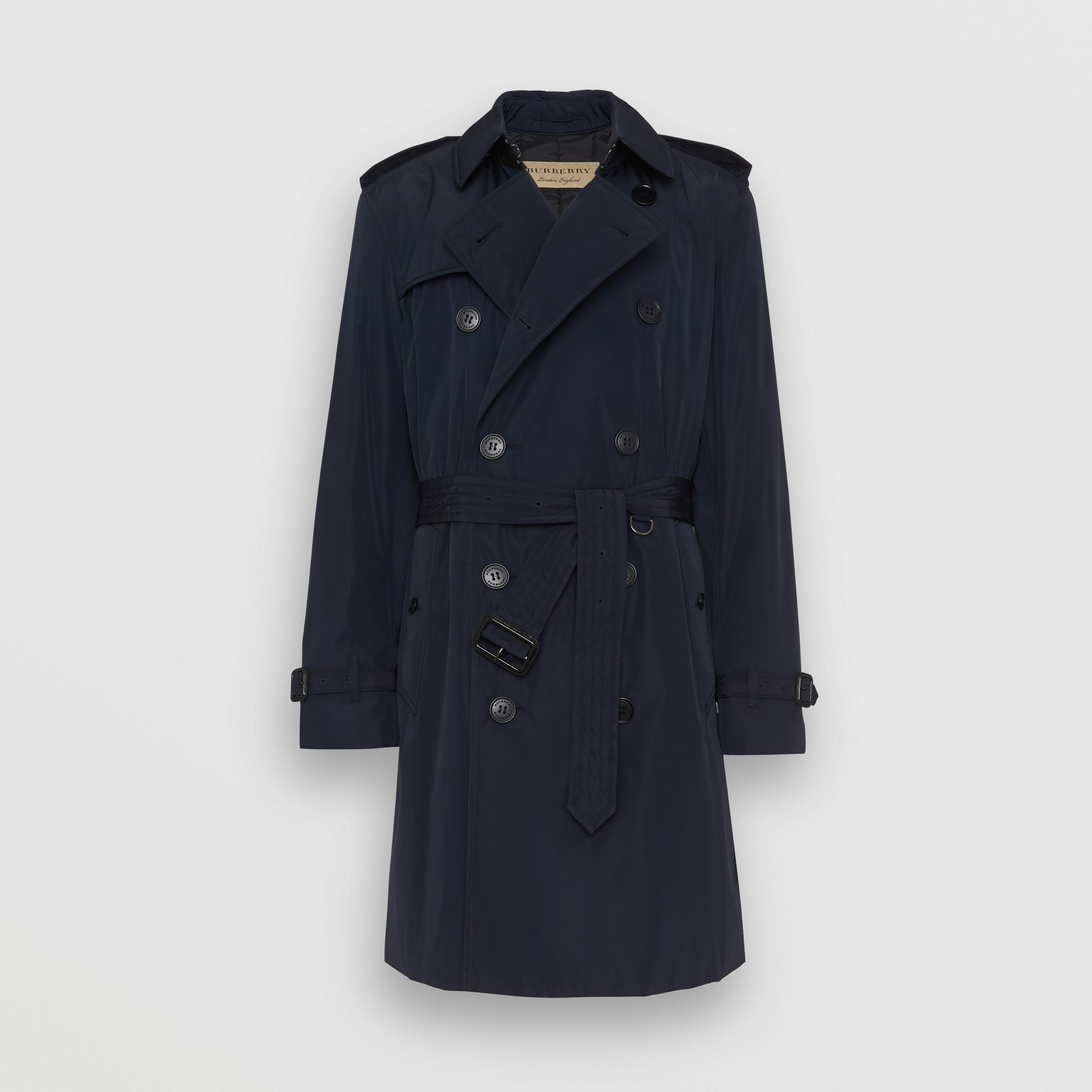 Burberry Ink Quilt-lined Nylon Trench Coat