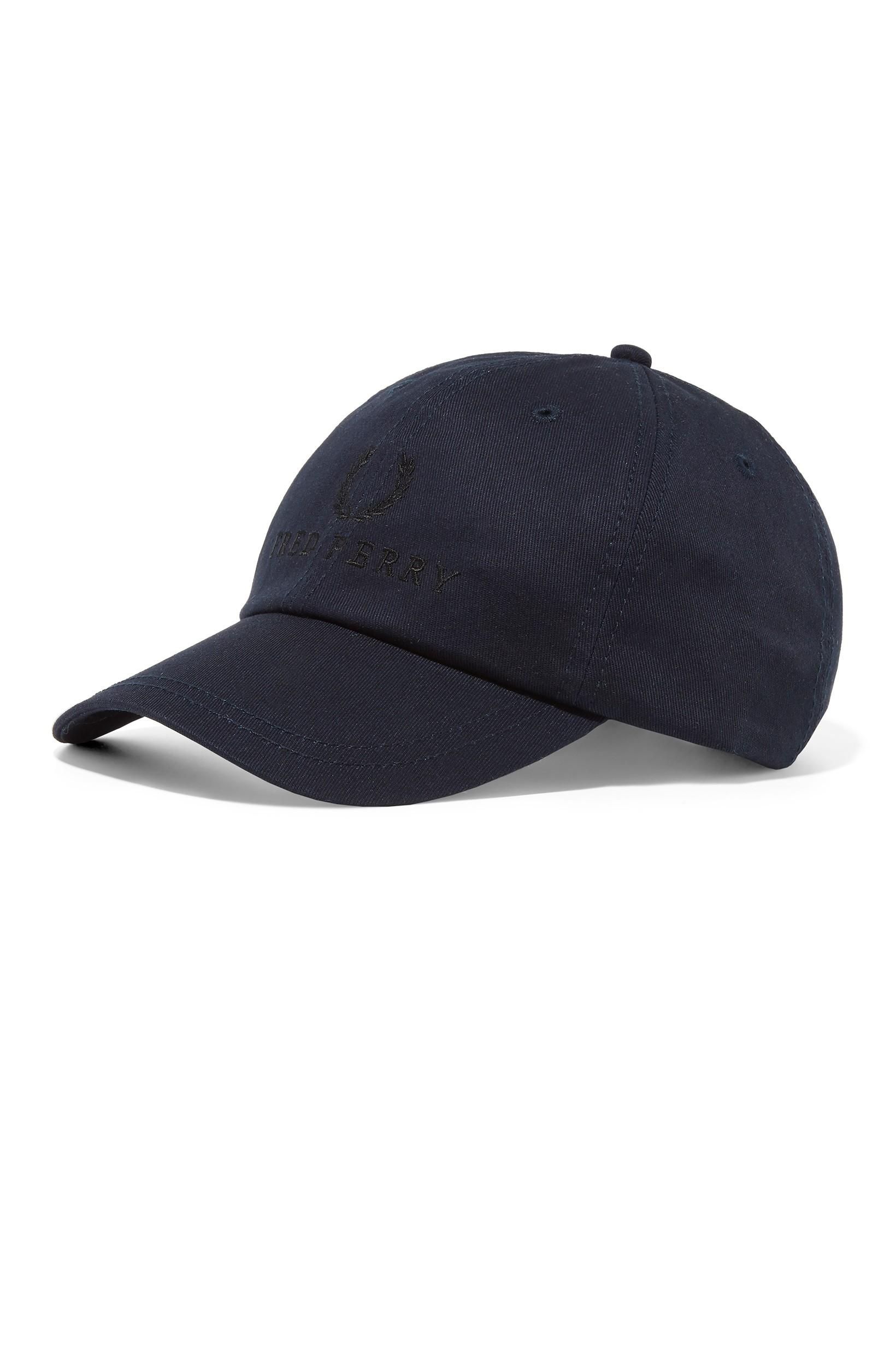 Fred Perry Washed Navy Embroidered Tennis Cap
